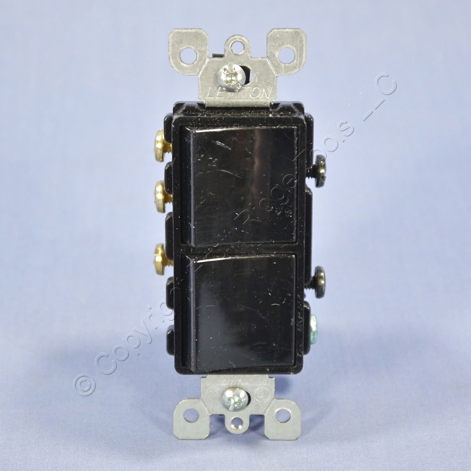 Leviton SCRATCHED Black Decora SP/3-Way DOUBLE Light Rocker Switch ...
