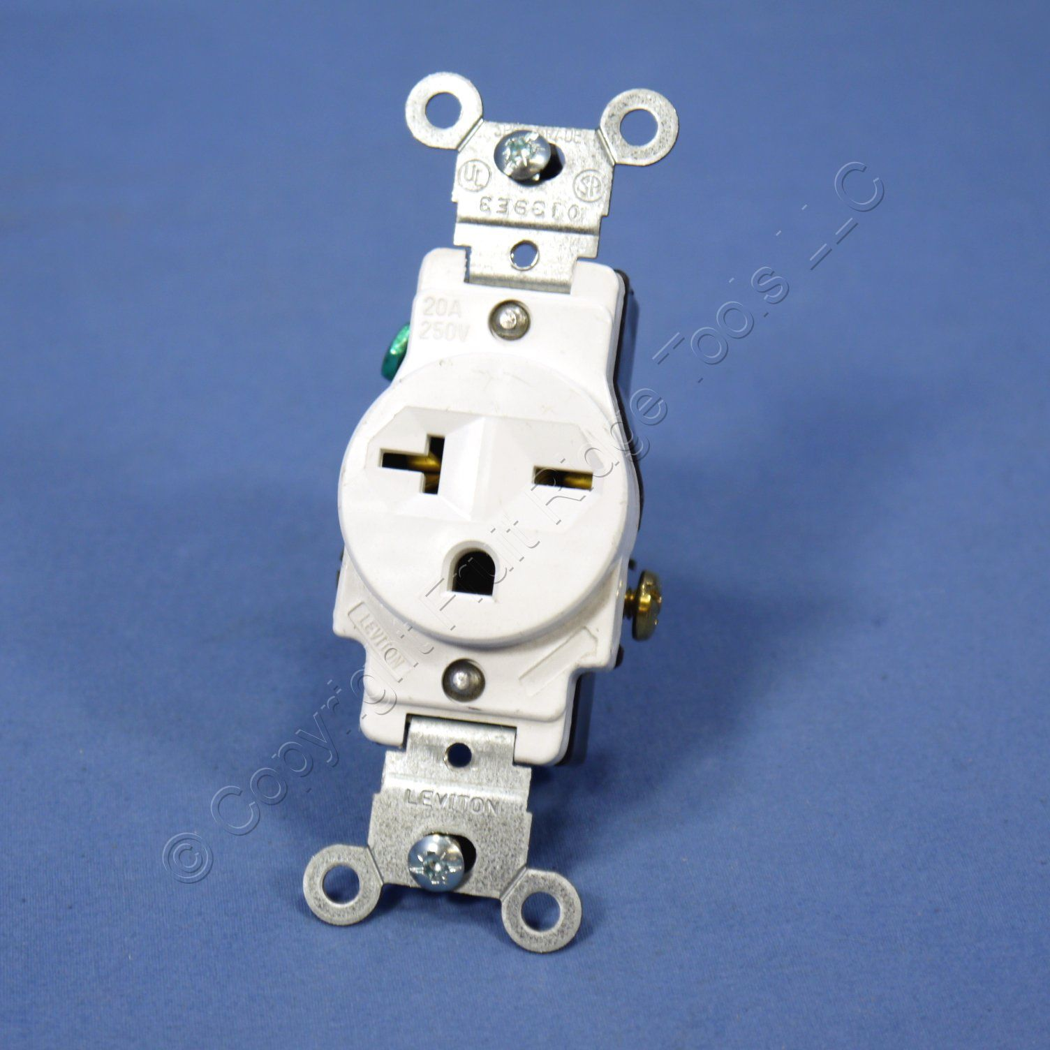 Shop Leviton White 6 20 Commercial Single Outlet Receptacle Nema L14 Plug Wiring Diagram 20r 20a 250v 5821 W Bulk Fruit Ridge Tools