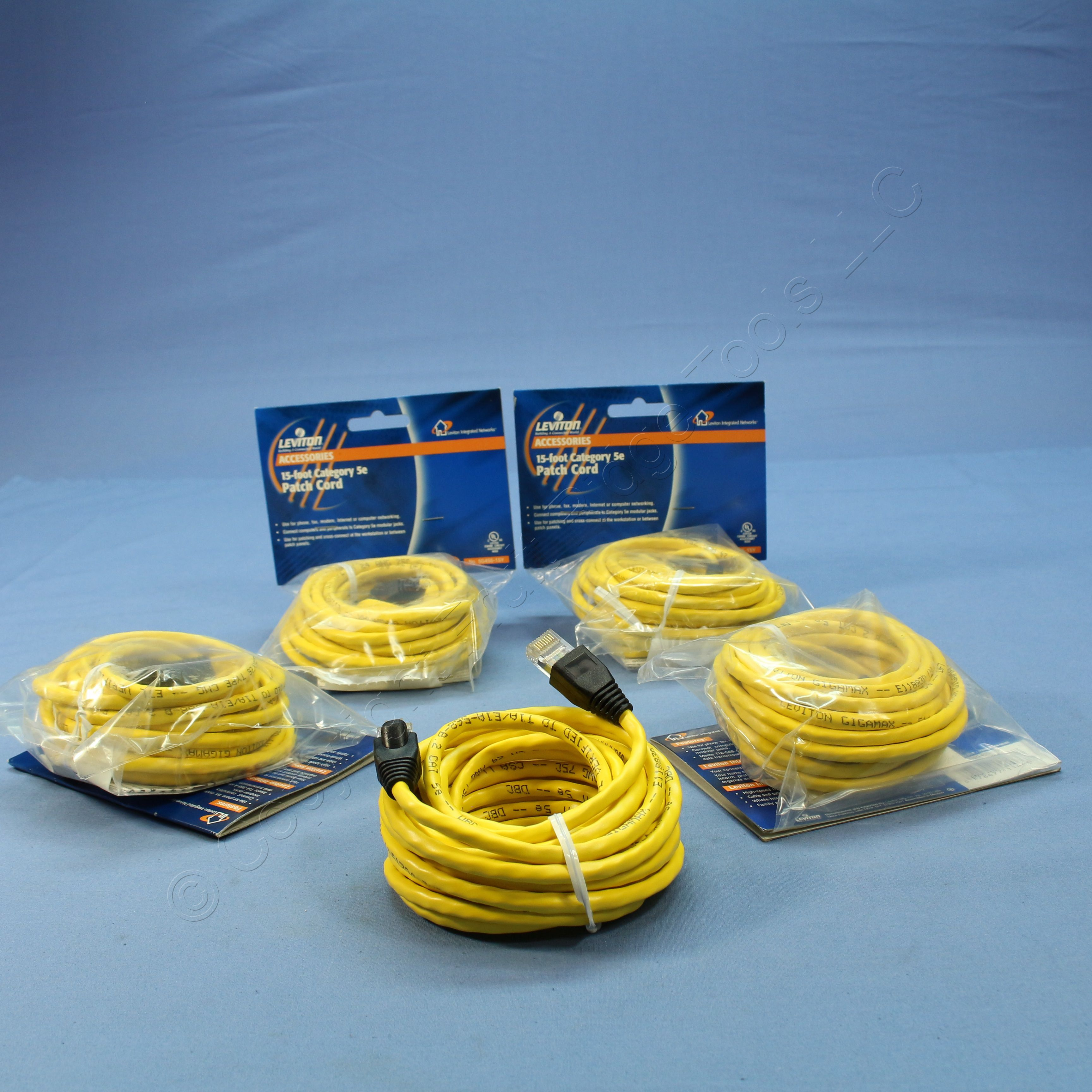 15 FT Feet Cat 5 CAT5e Cat5 ETHERNET LAN Network CABLE--YELLOW