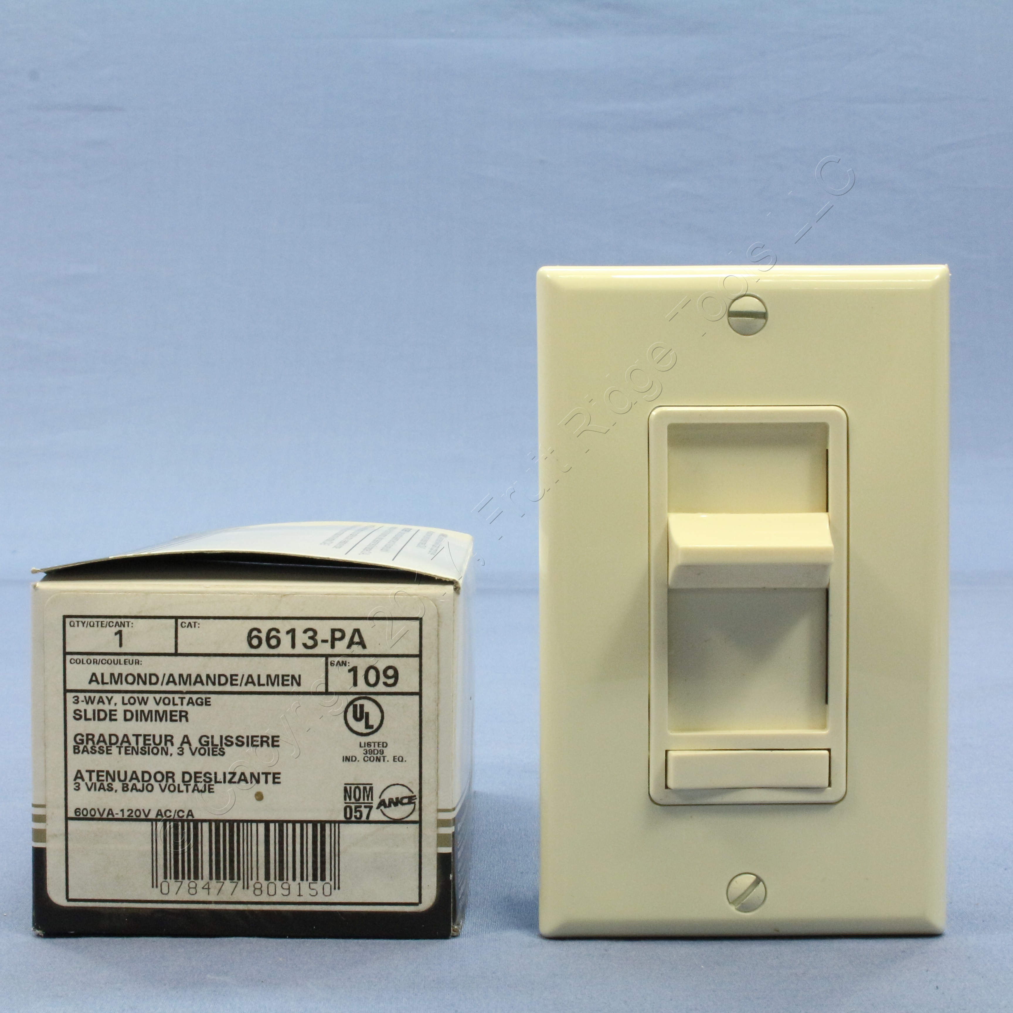Shop Leviton Almond 3 Way Slide Light Dimmer Switch Preset Plate 600w Incandescent 600va Low Voltage Magnetic 6613 Pa Fruit Ridge Tools