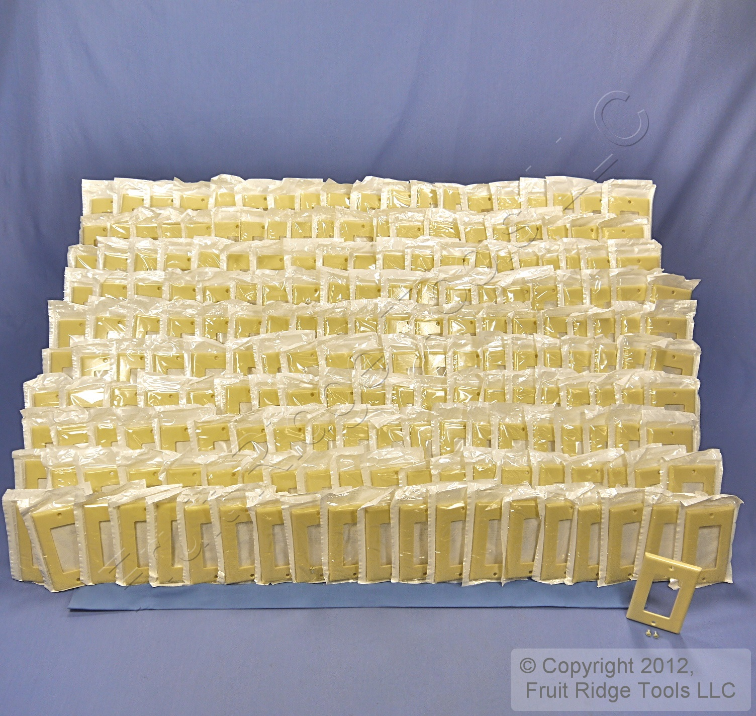 150 Leviton Almond Decora GFI GFCI Cover Flush 1-Gang Plastic Wallplates 80401-A