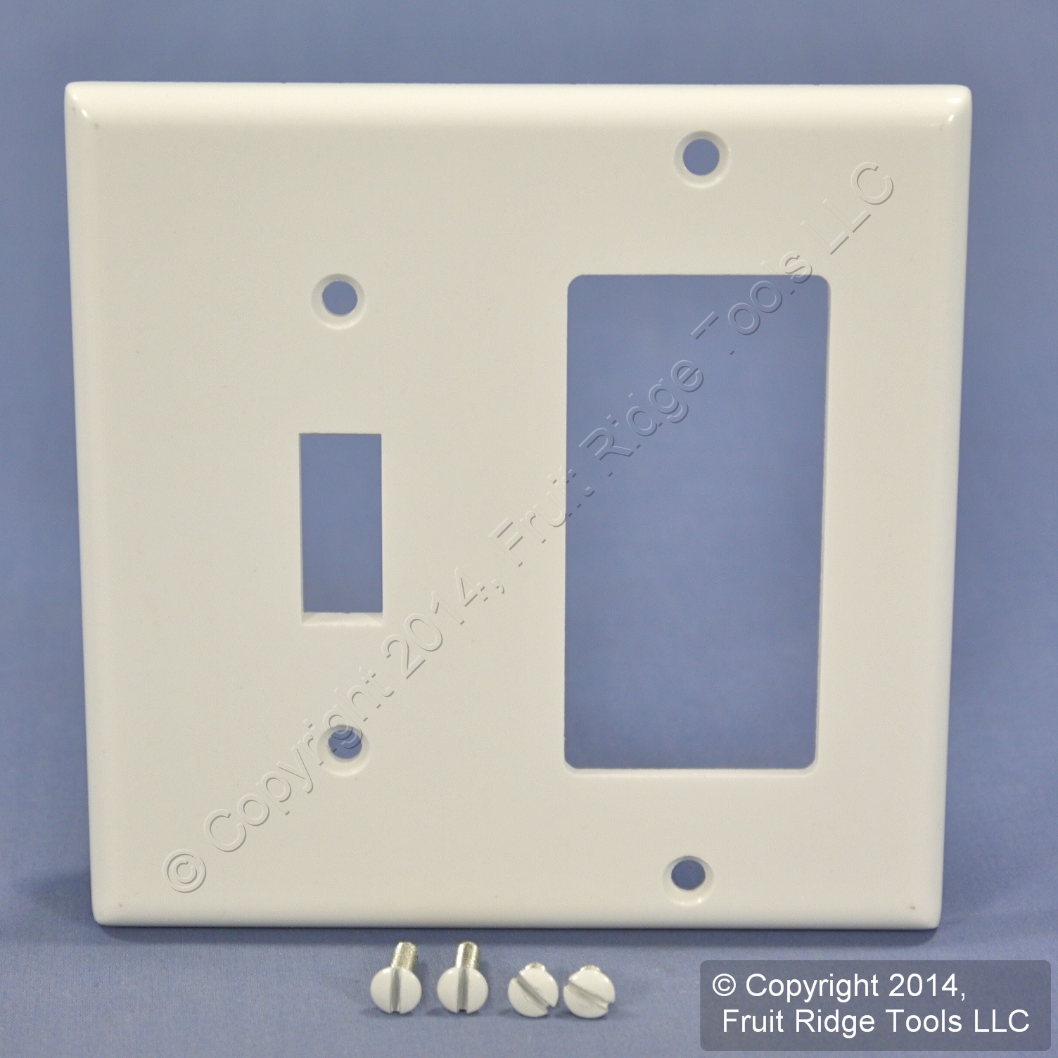 Rocker//Toggle Combination Wall Plate,No 80405I Leviton Mfg Co