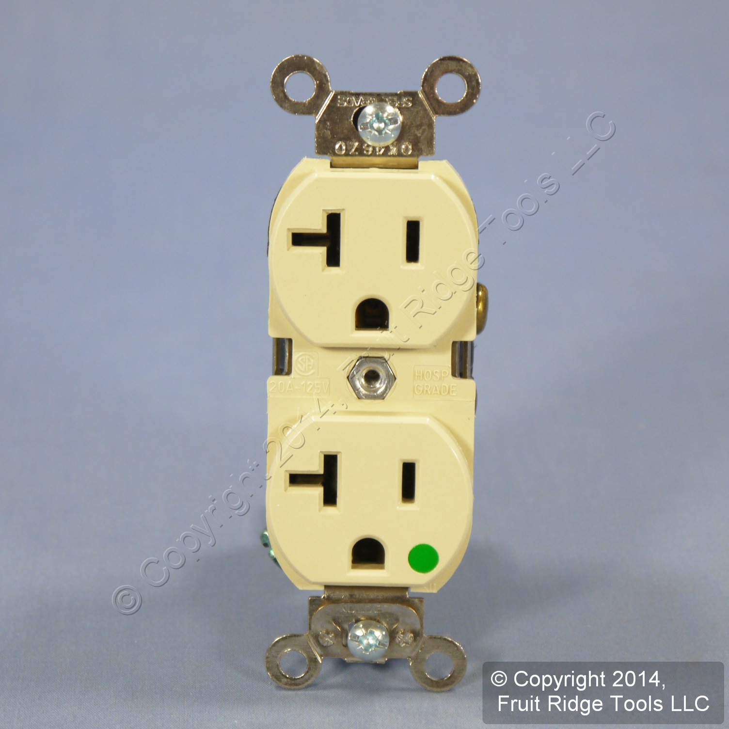 Shop Leviton Ivory Lighted Hospital Grade Receptacle Electrical Outlets Light Switches 15a Gfi Outlet Illuminated Duplex 20a 8300 Hli Fruit Ridge Tools