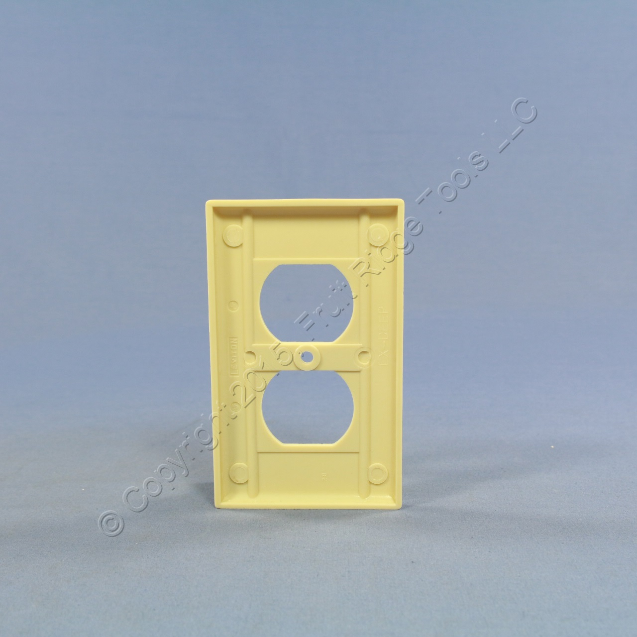 🏠 🔌 Buy Leviton Ivory EXTRA DEEP 1-Gang Duplex Receptacle Cover ...