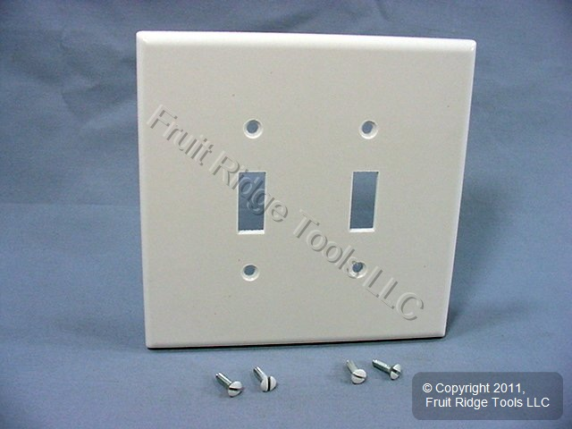 New Leviton White Oversize 2 Gang Toggle Switch Cover Plastic Wallplate 88109 78477440773 Ebay