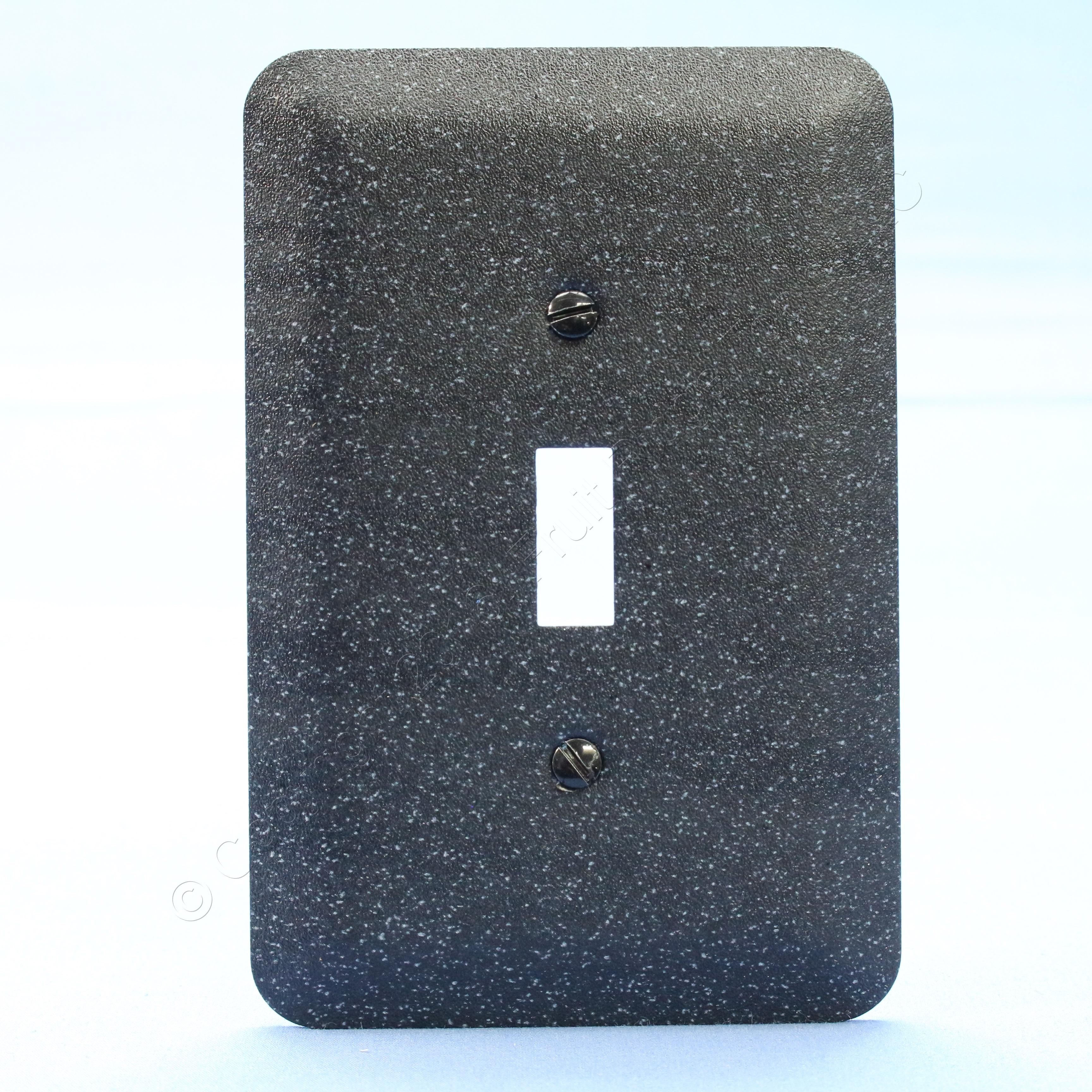 New Leviton JUMBO Black Granite Metal Decorative Light Switc