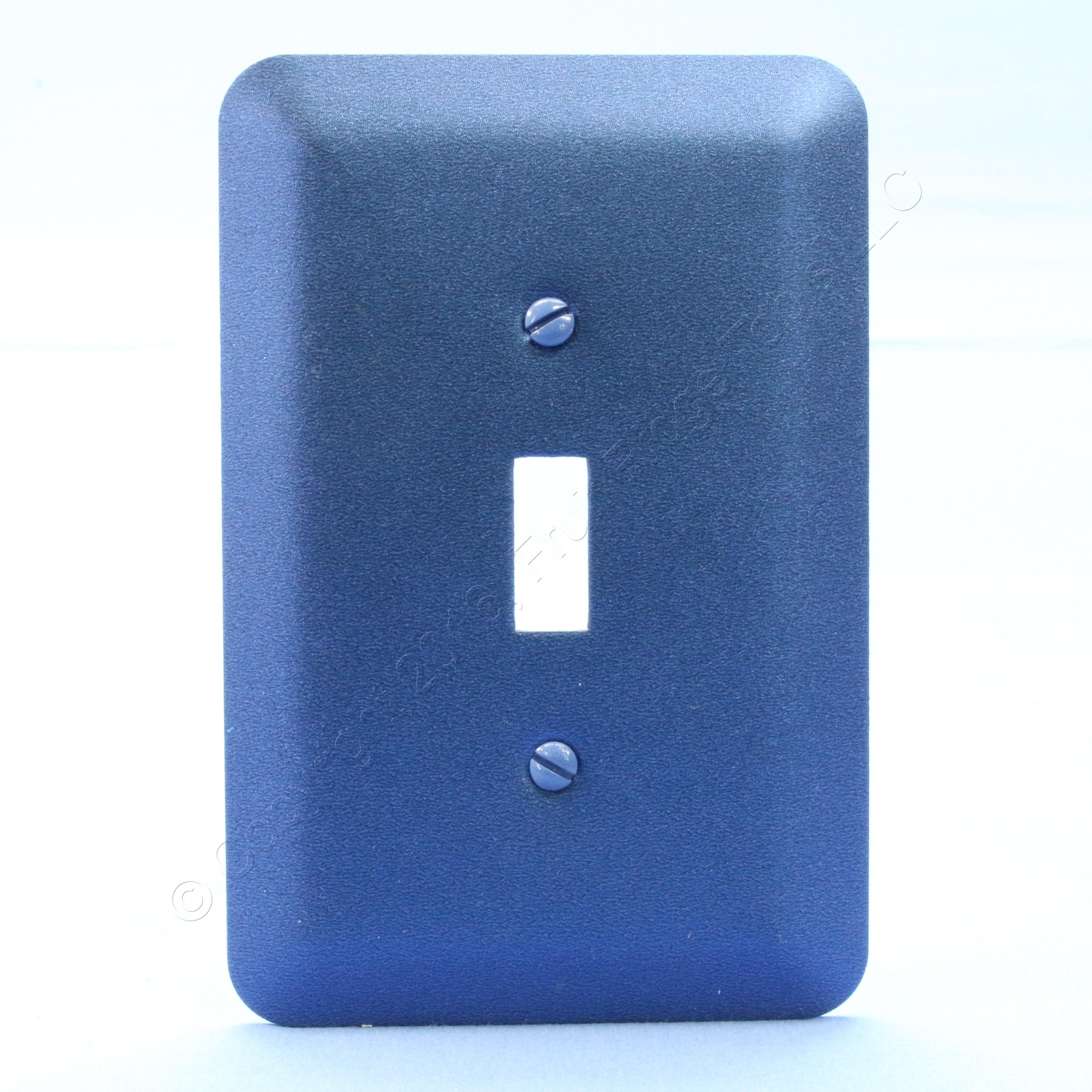 Leviton 1G JUMBO Metallic Blue Switch Cover Oversize Toggle