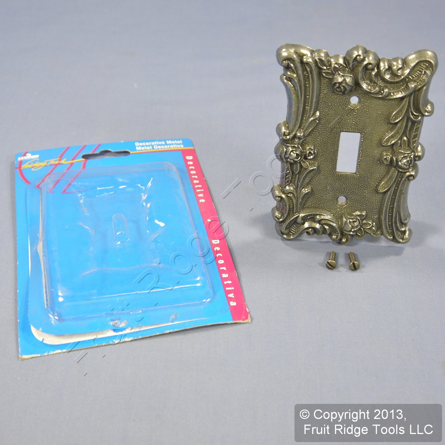 Leviton Antique Silver Textured Metal Switch 1 Gang Cover Wallplate 89601 Asp 78477214893 Ebay