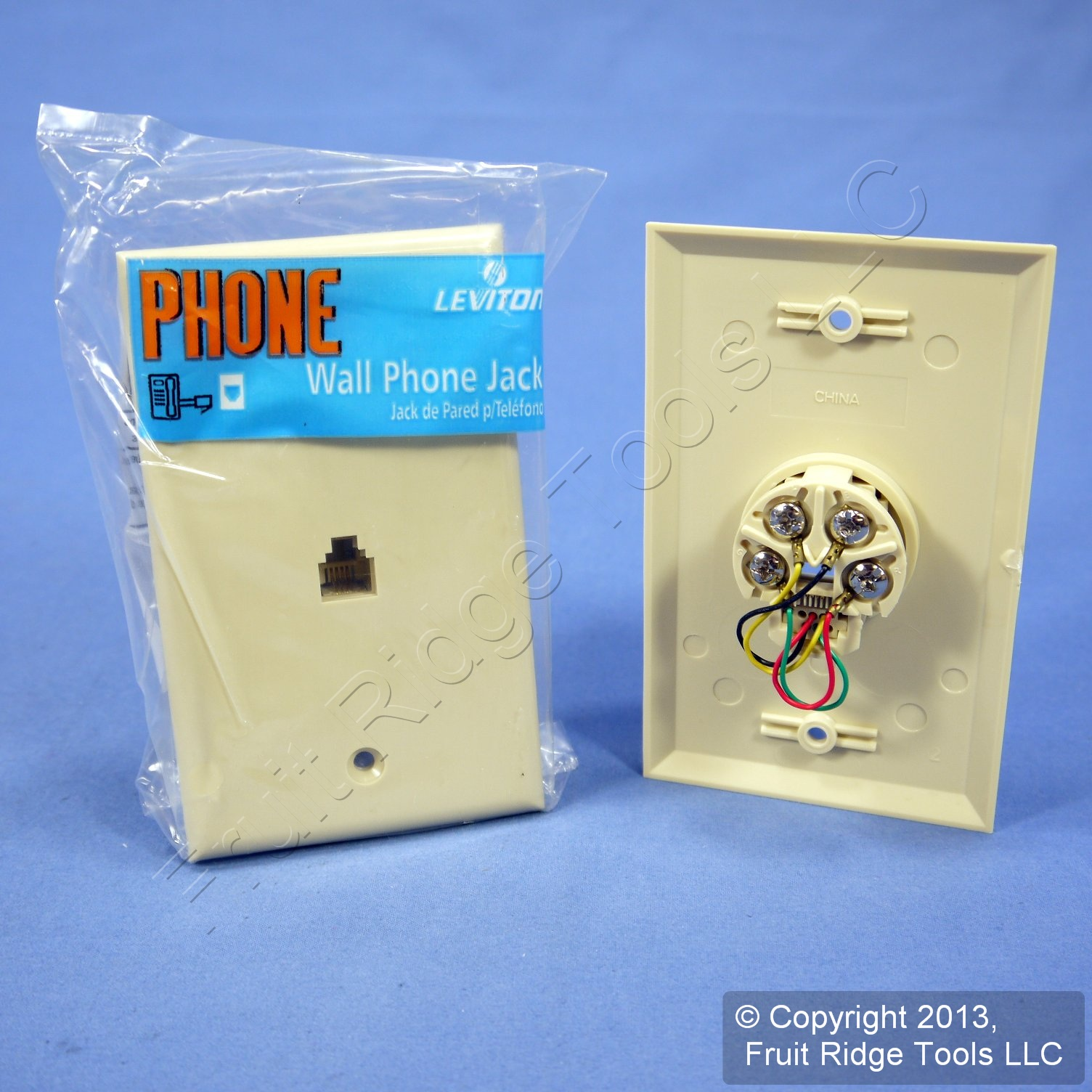 5 Leviton Ivory 4 Wire Phone Jack Wallplates Rj11 Modular Telephone Wiring Diagram Picture 3 Of 6