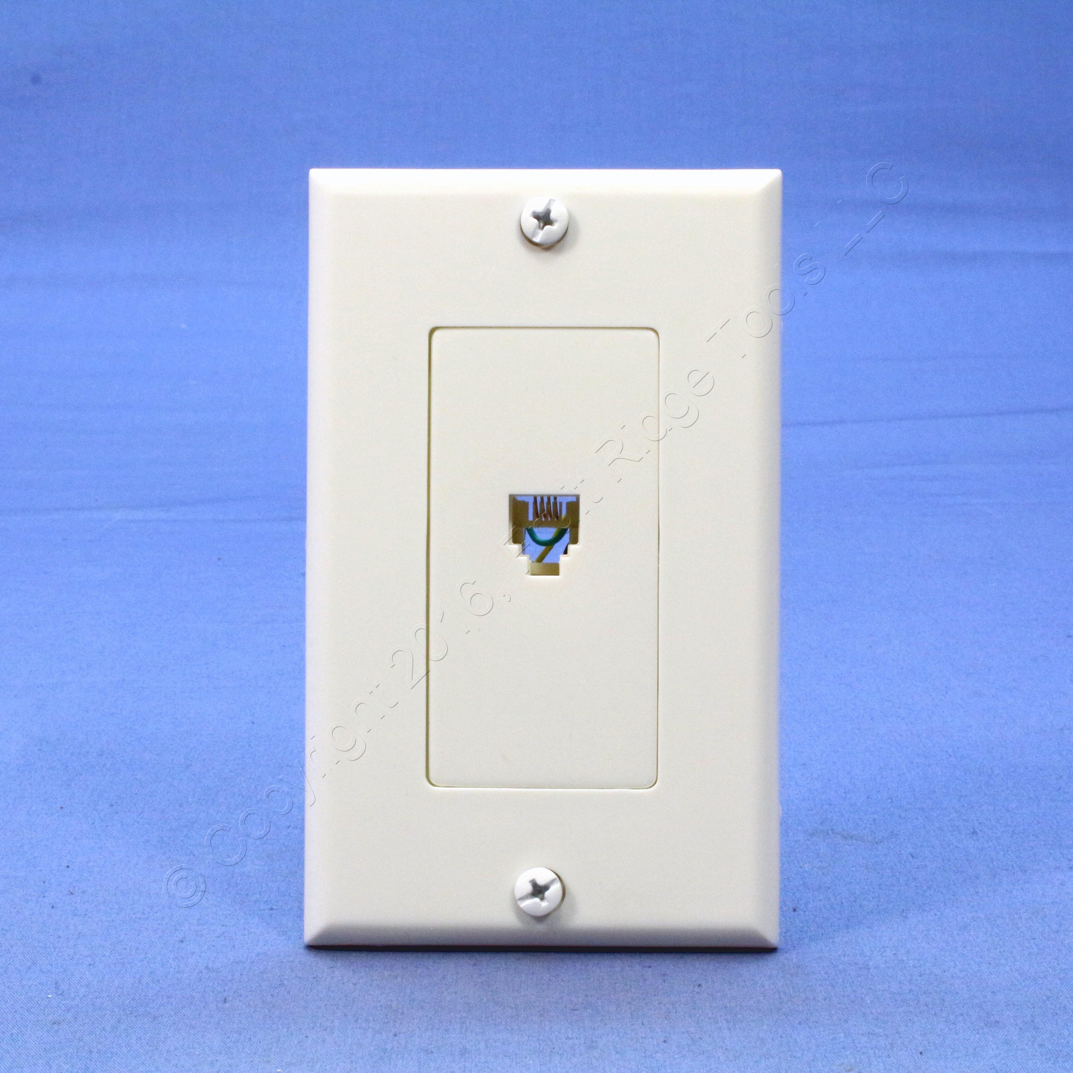 Leviton White Decora Phone Jack Wall Plate Telephone C2449-W ...