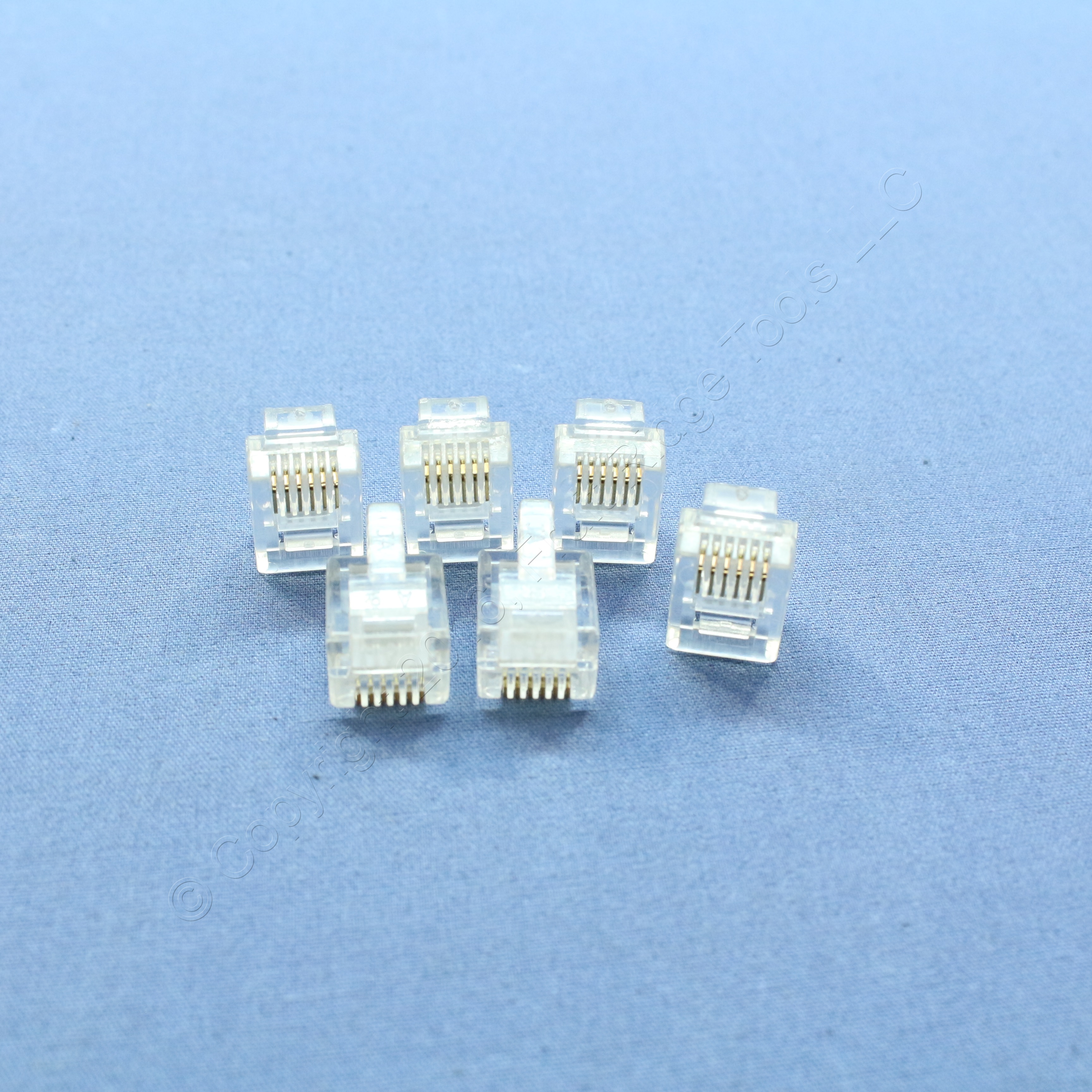 6 New Leviton Replacement Telephone Line Cord Plug Ends Rj12 Modular Wiring A End Phone C2696