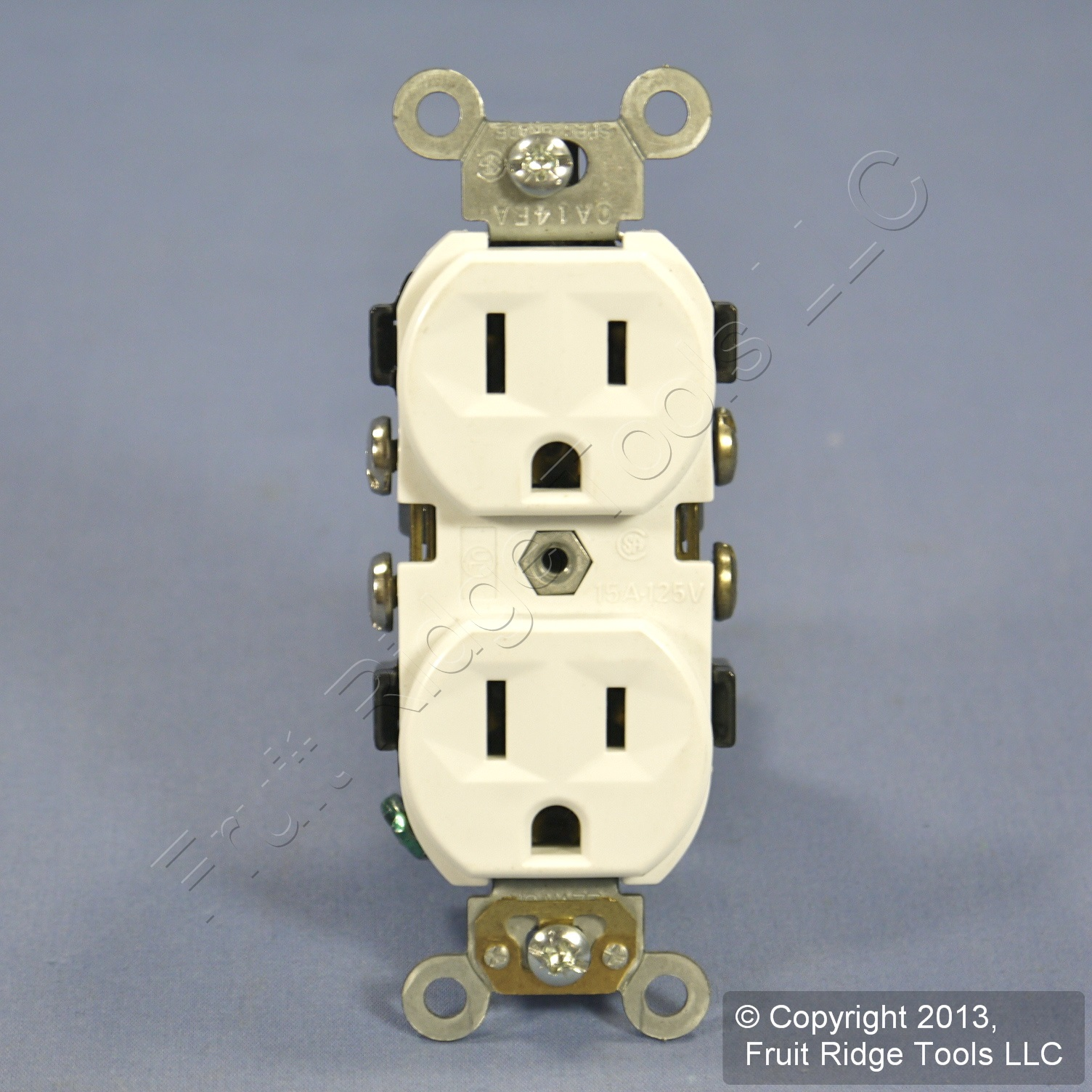 New Leviton White COMMERCIAL GRADE Outlet Duplex Receptacle