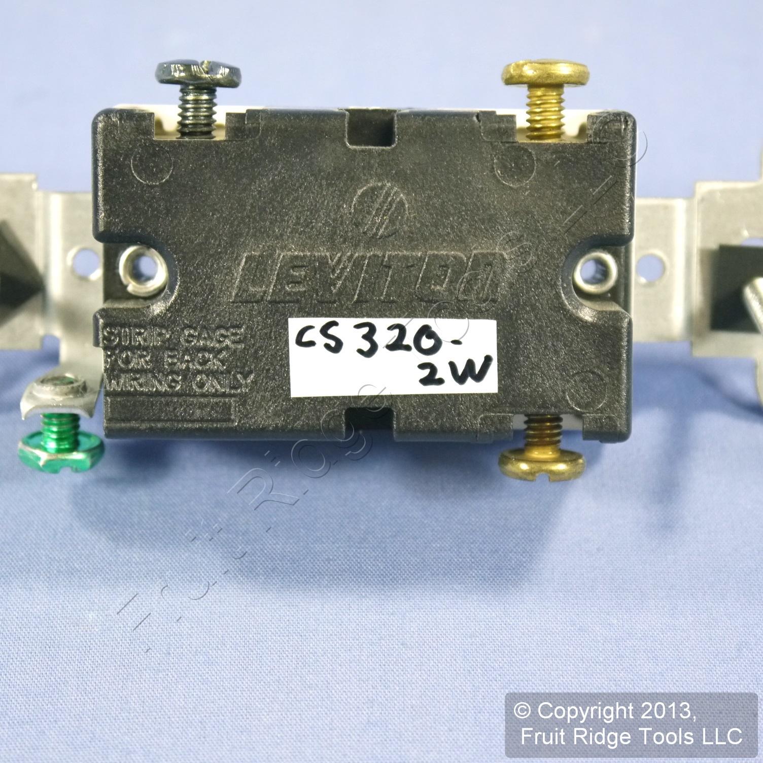 Leviton White 3-Way COMMERCIAL Grade Toggle Wall Light Switch 20A Bulk CS320-2W