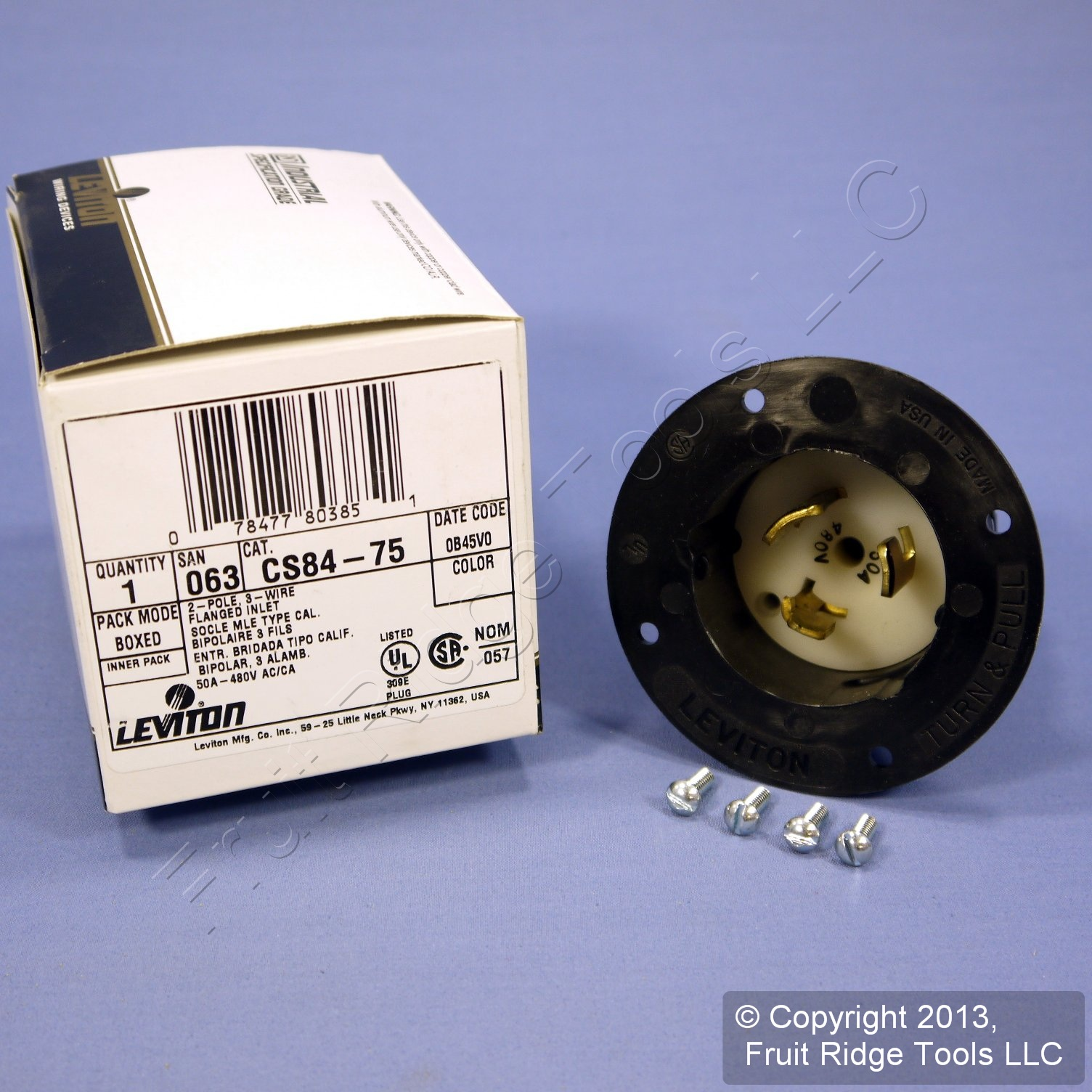 Shop Leviton California Locking Flanged Inlet Plug Twist Lock Wiring Devices Non Nema 50a 480v Cs84 75 Fruit Ridge Tools