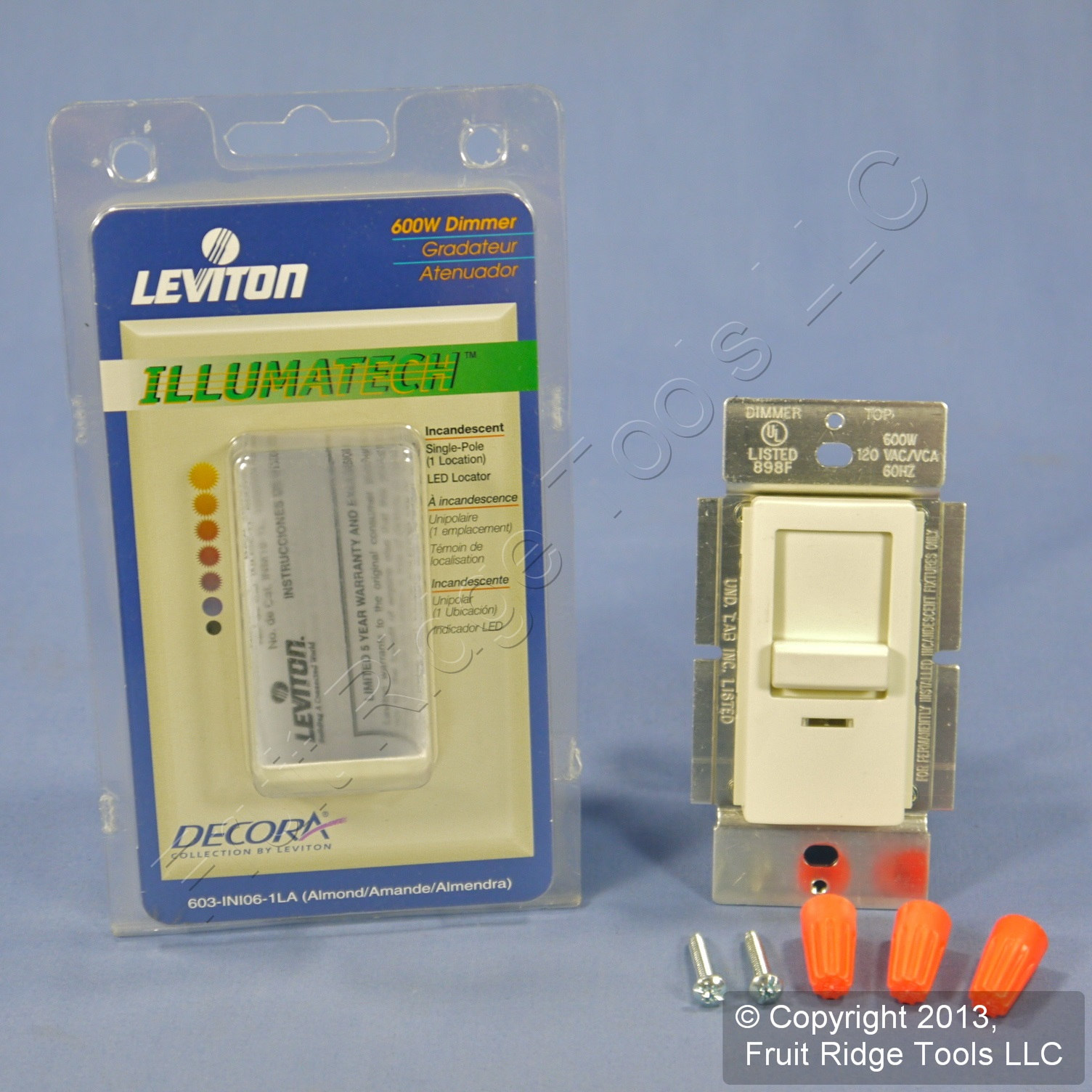 Leviton Ivory Illumatech Dimmer Switch 600w Incandescent