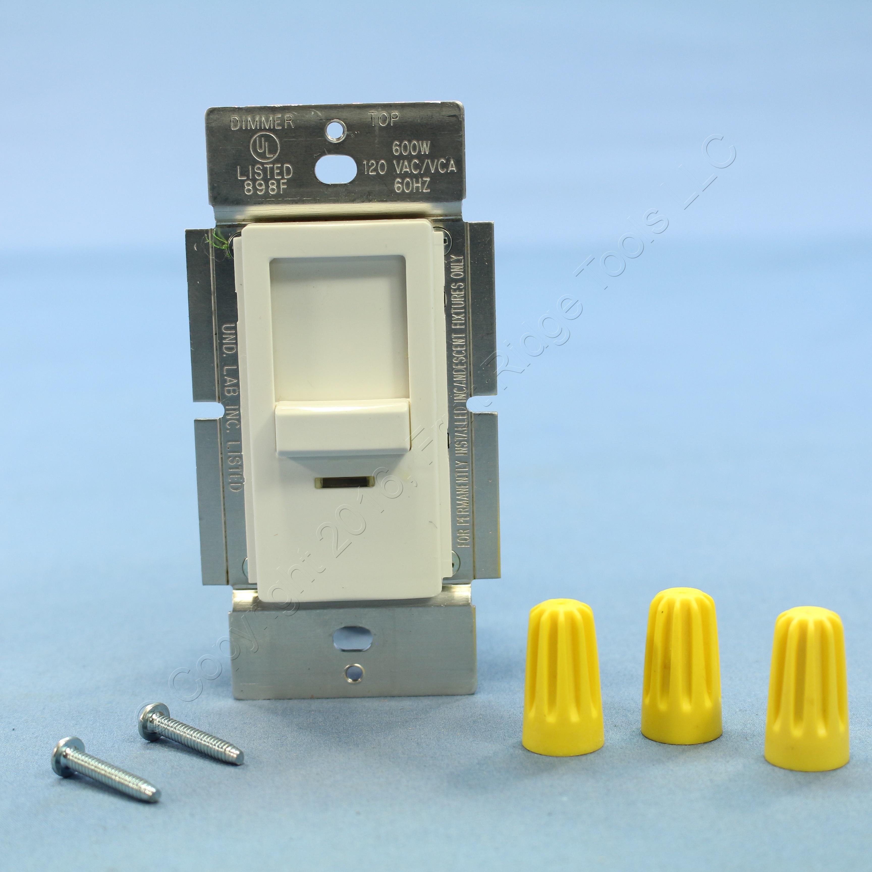 Leviton INI06-1LW White Decora Commercial Slide Dimmer Light ...