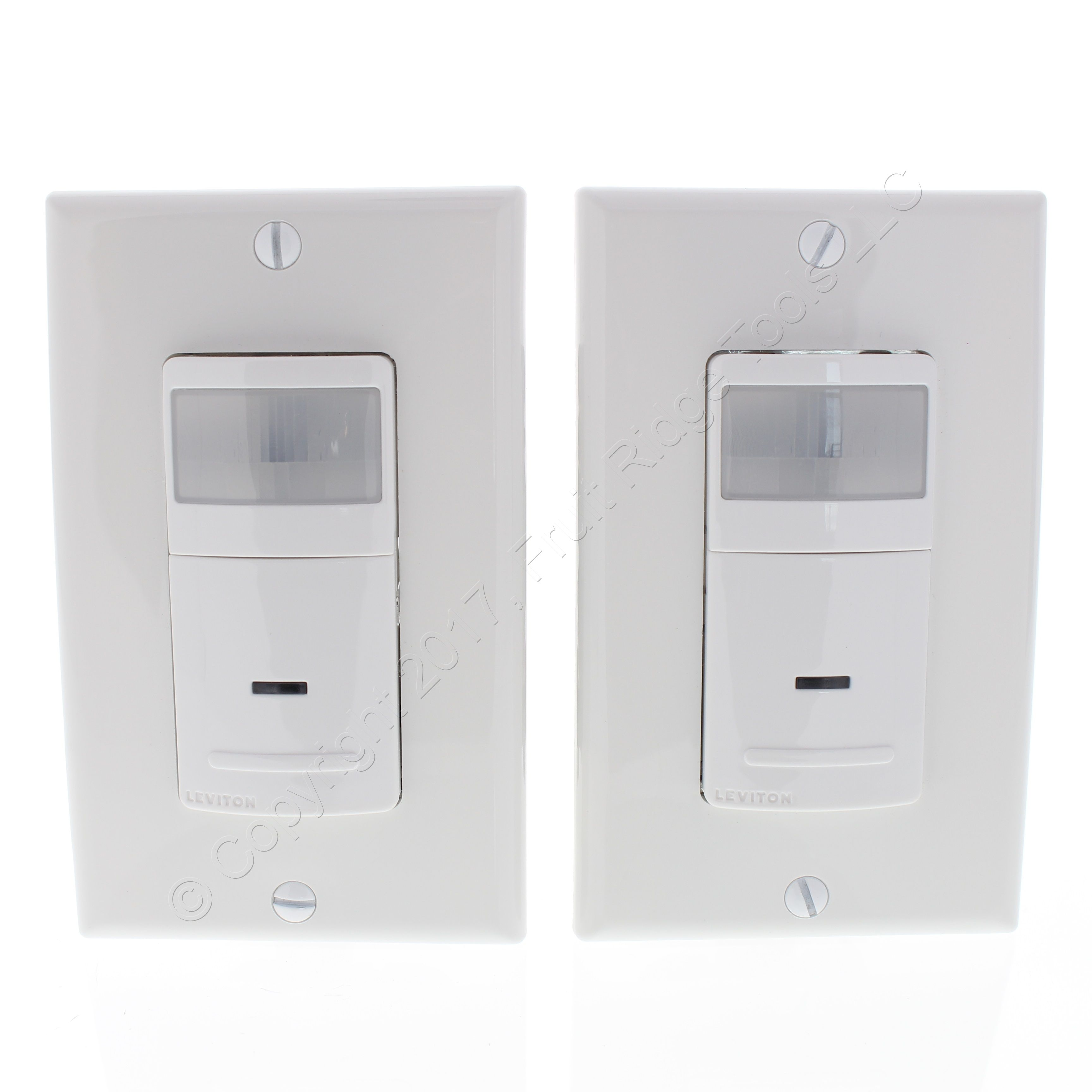 2 Leviton White Motion Sensor 1-Pole/3-Way Light Switches 900Sq Ft ...
