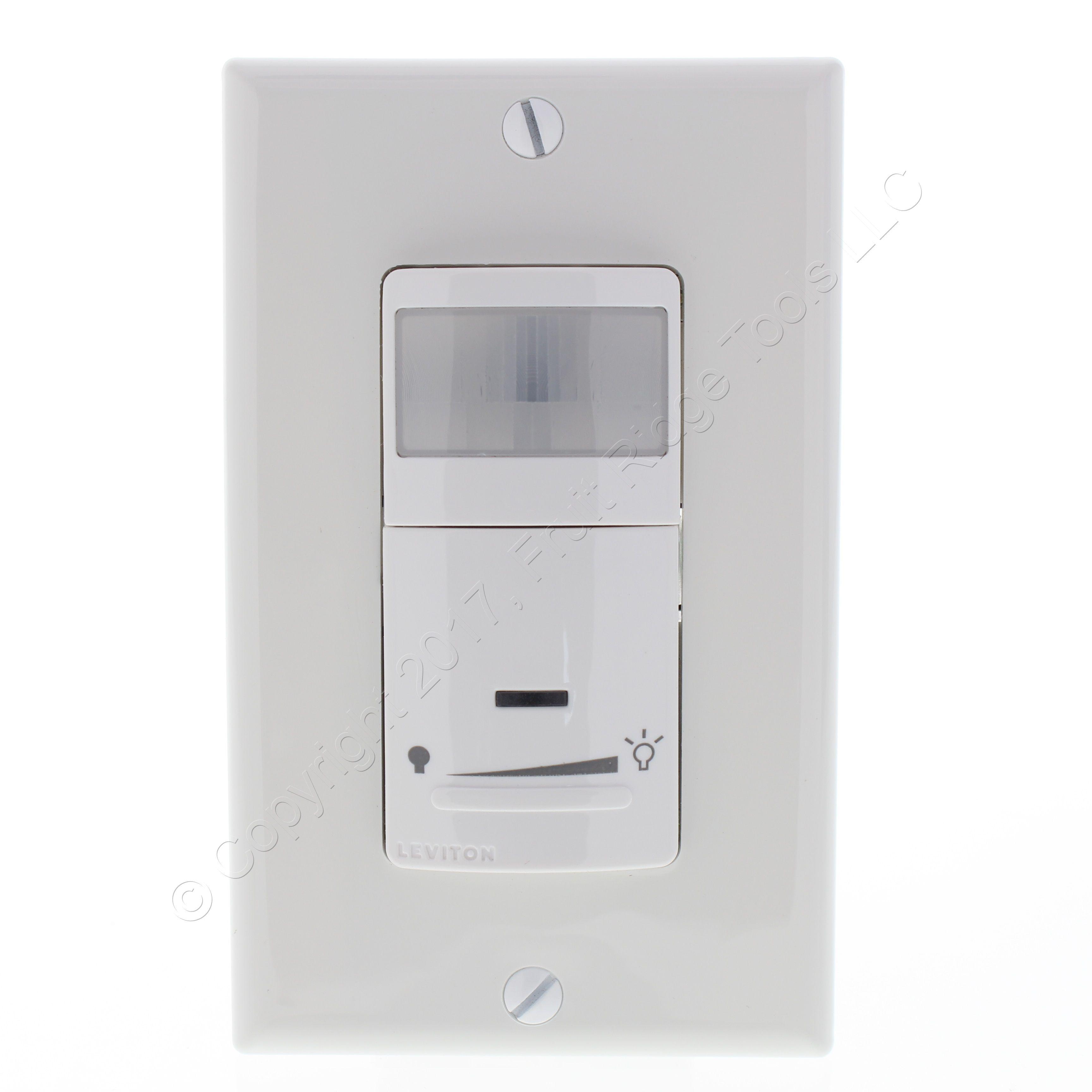 🏠 🔌 Buy Leviton White LED Incandescent Dimming Motion Sensor 1 ...