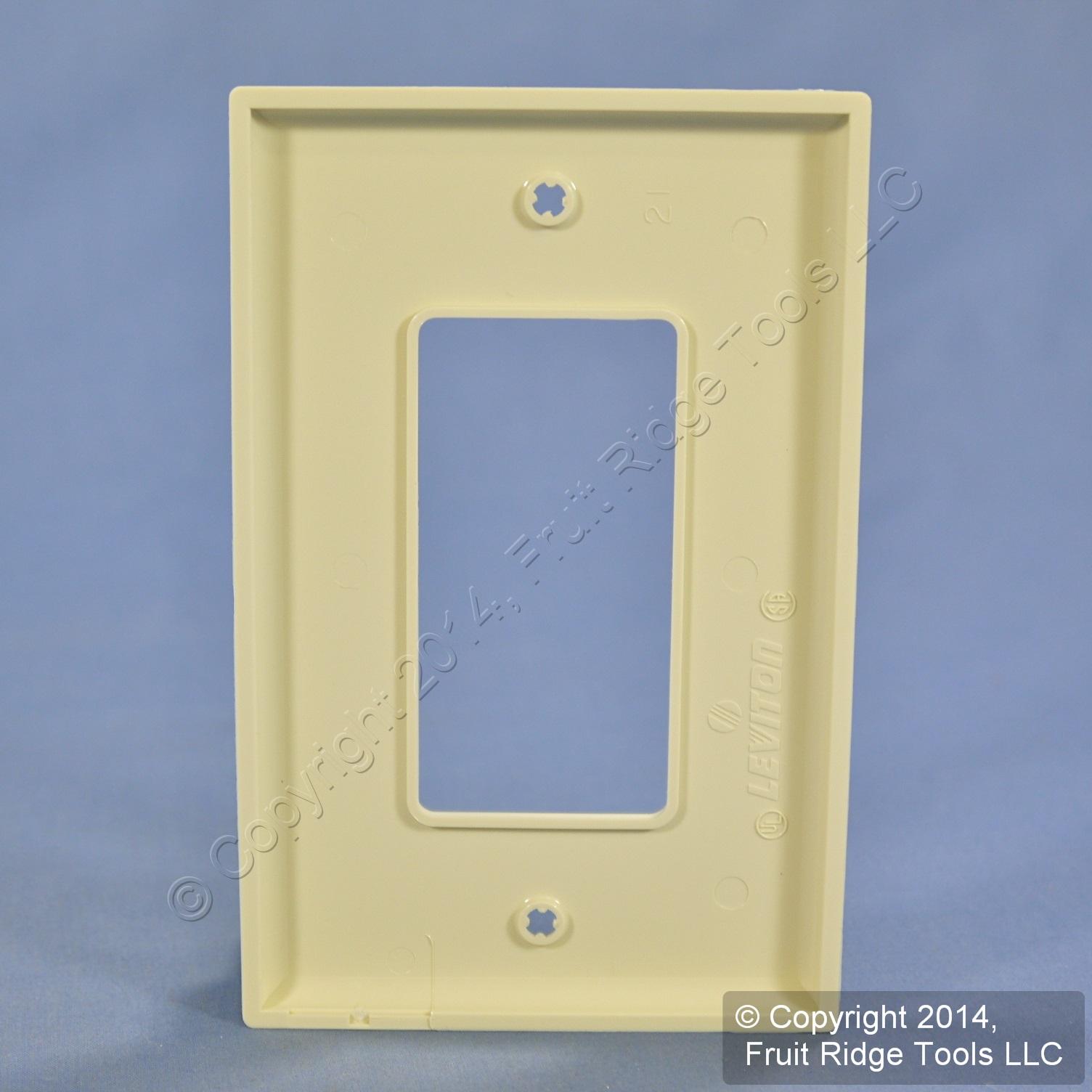 LEVITON ALMOND DECORA Unbreakable LARGE 1G Nylon Wallplate GFI GFCI ...