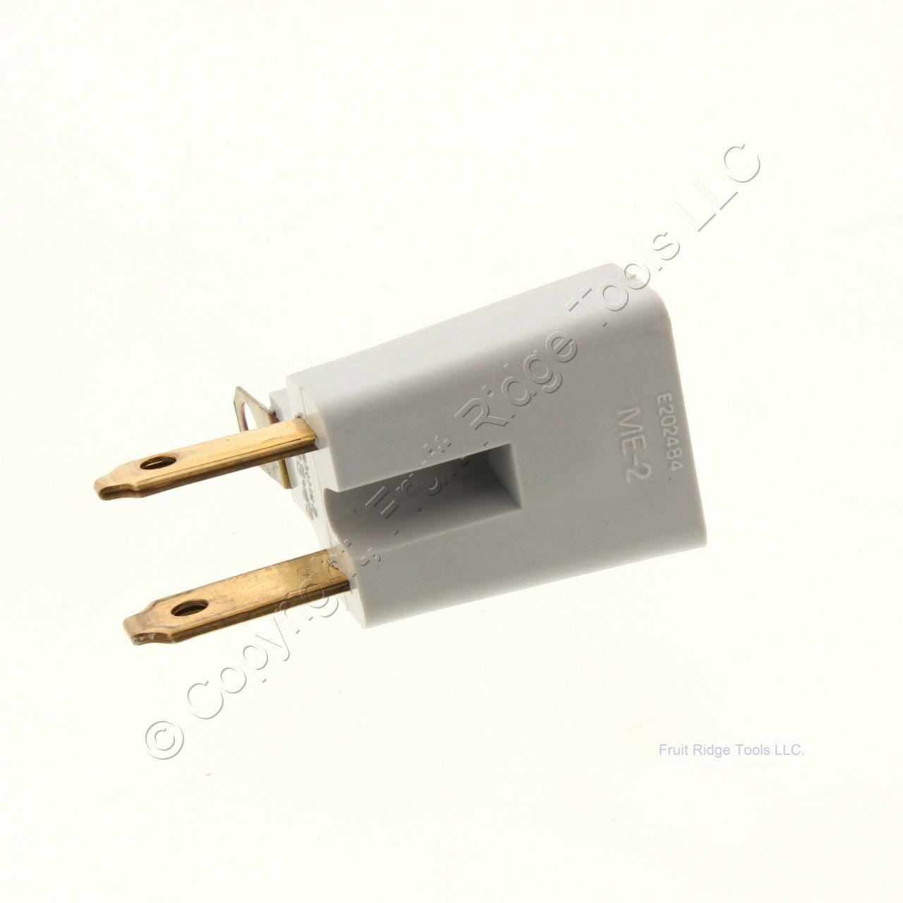 New P/&S Ivory Colored 1-15 Straight Blade Plug NEMA 1-15P 10A Polarized 123-PI