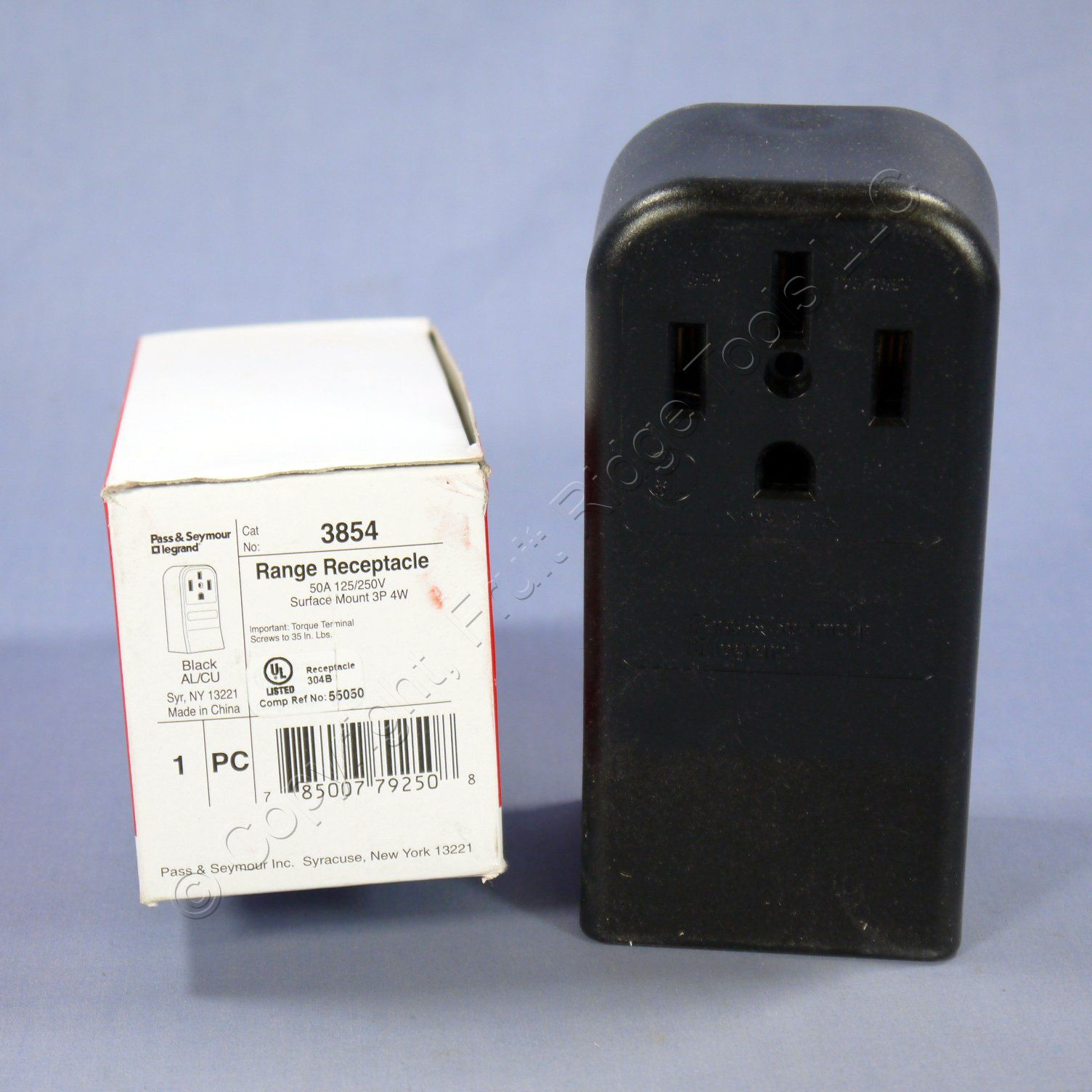Ps Range Oven Stove Surface Mount Receptacle Nema 14 50 50a 125 Plug Wiring South Africa 250v 3854 Boxed