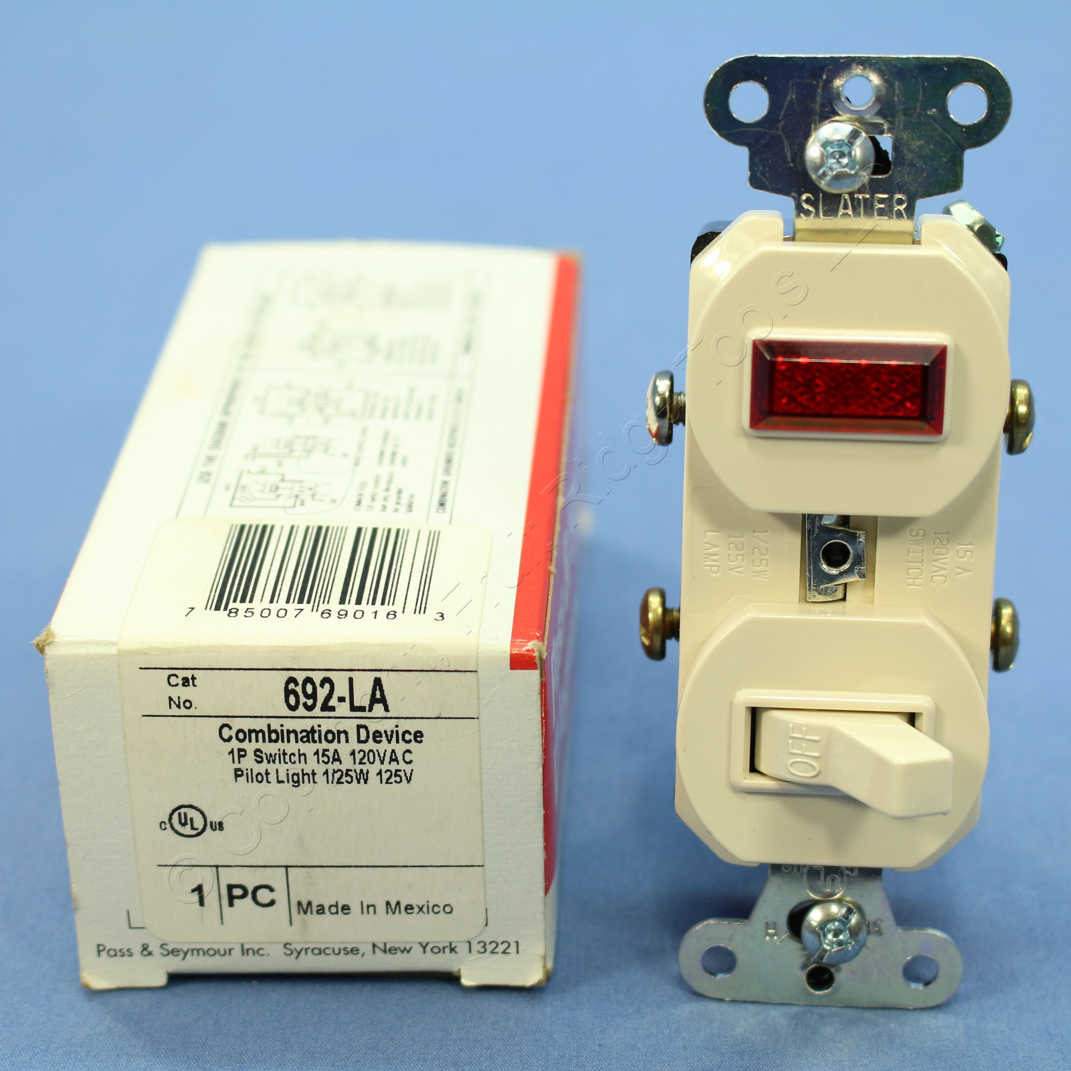 Ps Light Almond Commercial Toggle Wall Switch 15a With Pilot No 2 692 La Boxed