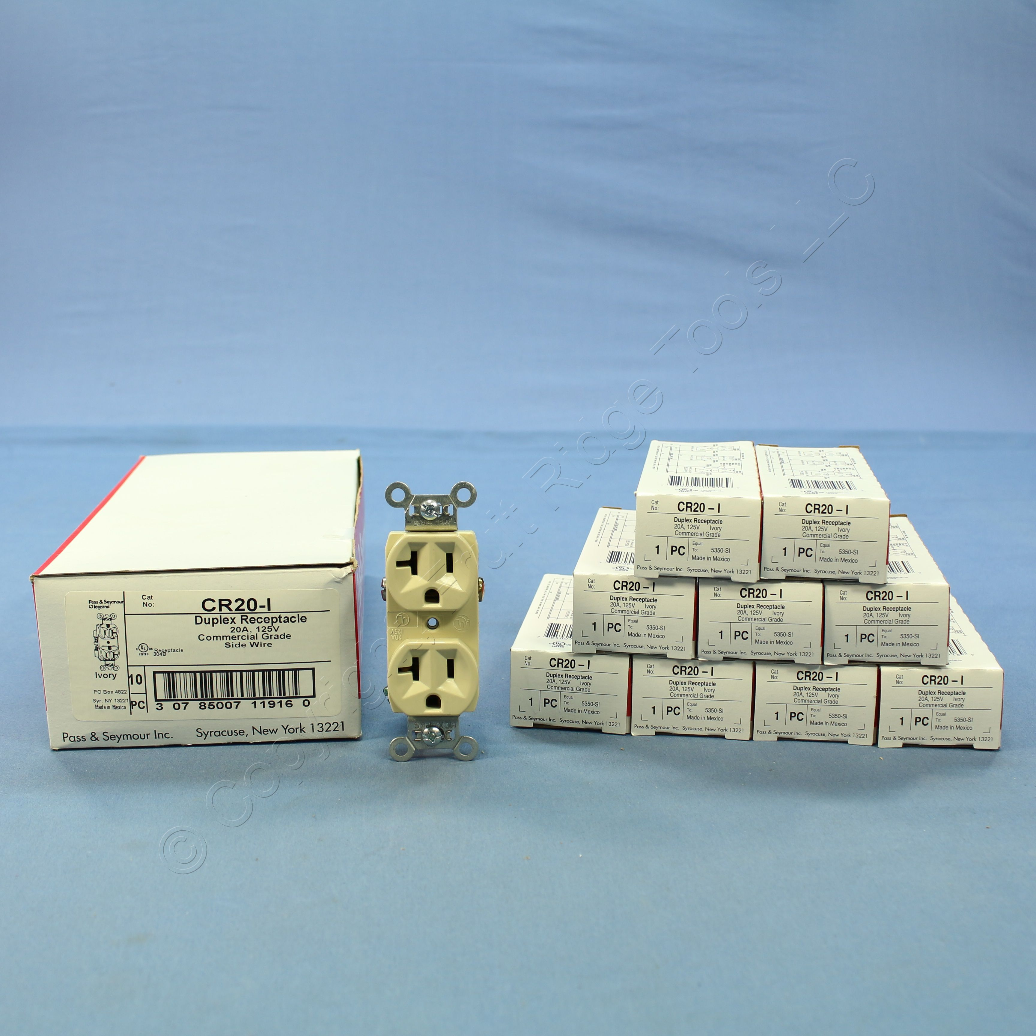HUGE Lot 90 Pass & Seymour Duplex Receptacle 20 Amp 125v Comm Grade ...