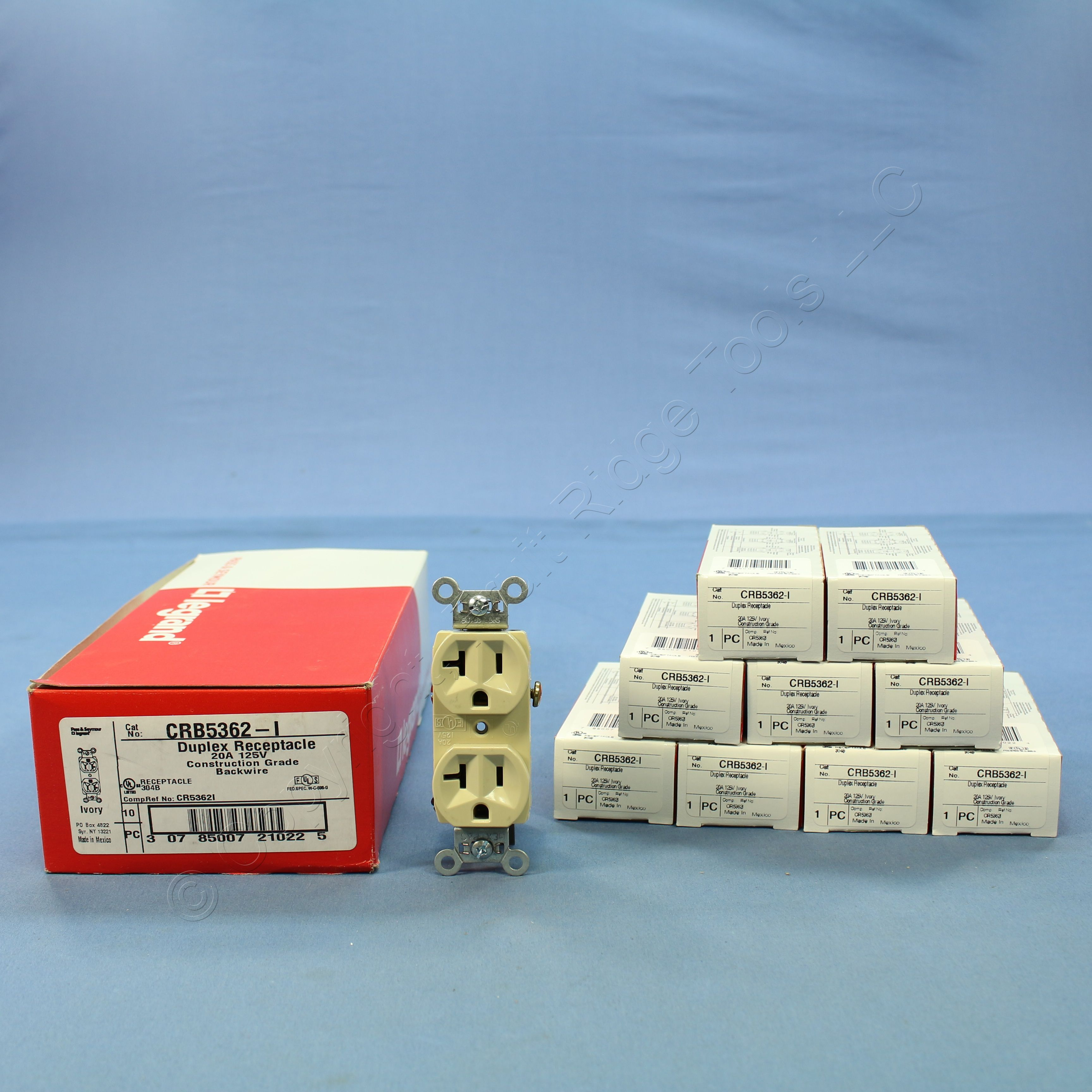 lot of 10 5-20R Pass /& Seymour Duplex Receptacle Ivory