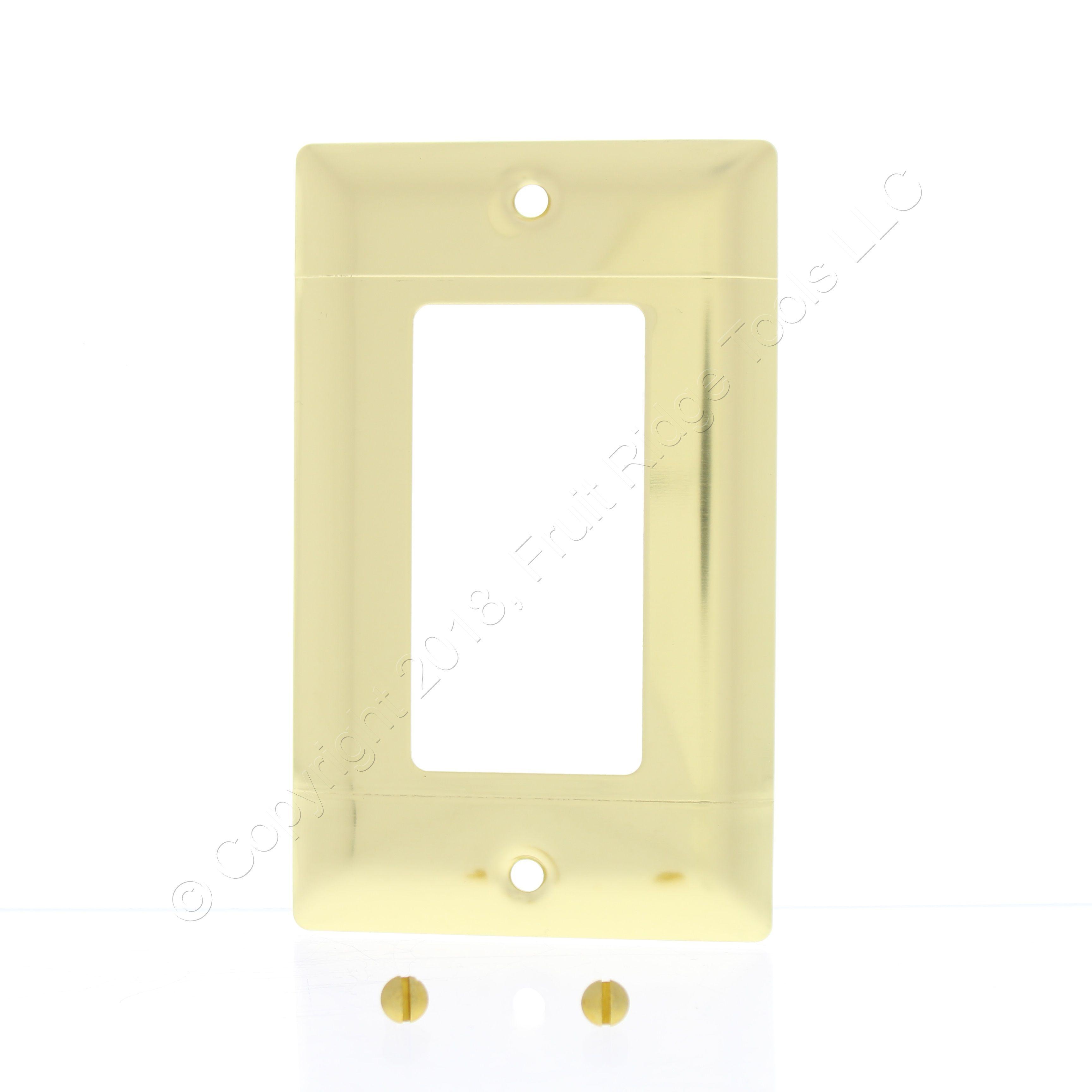 Pass & Seymour Polished Brass 1-Gang Decorator GFCI GFI Wallplate ...