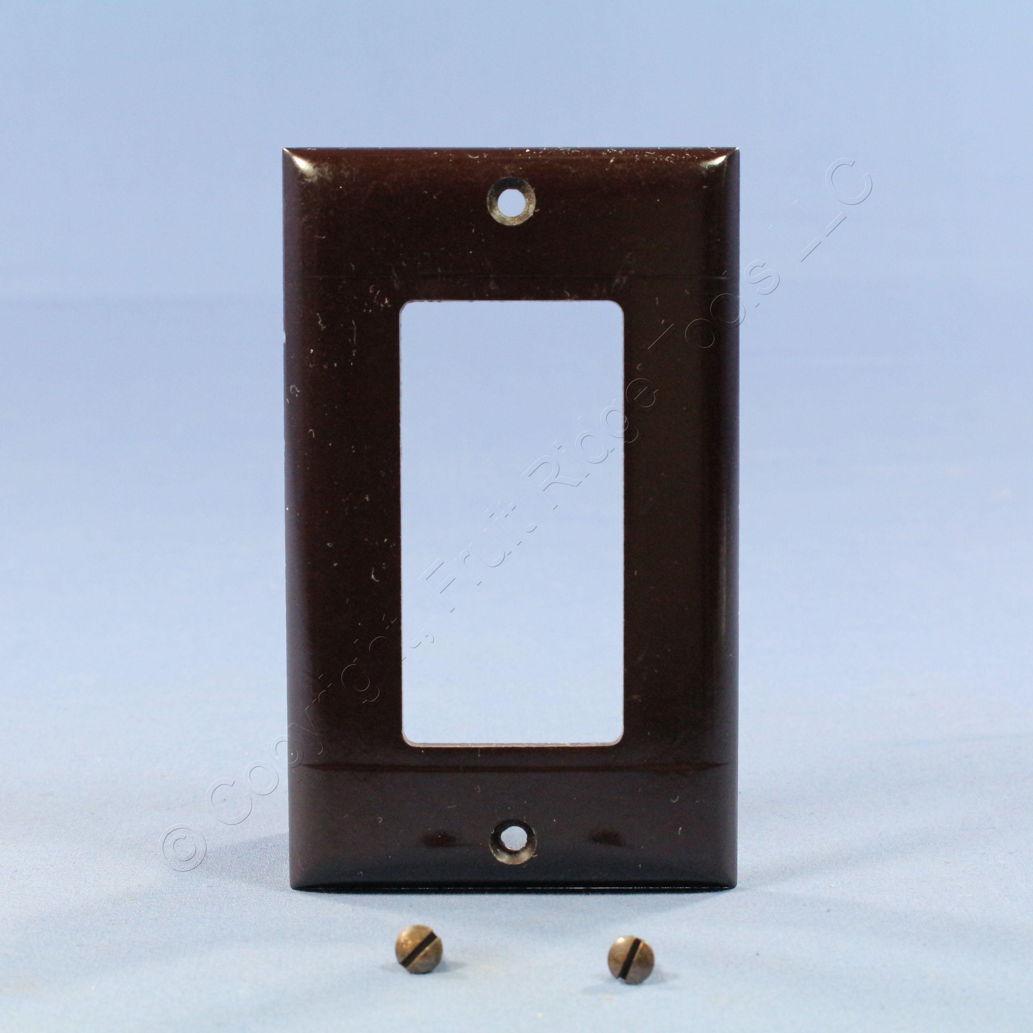 Pass  U0026 Seymour Brown Standard 1g Decorator Gfi Gfci Cover