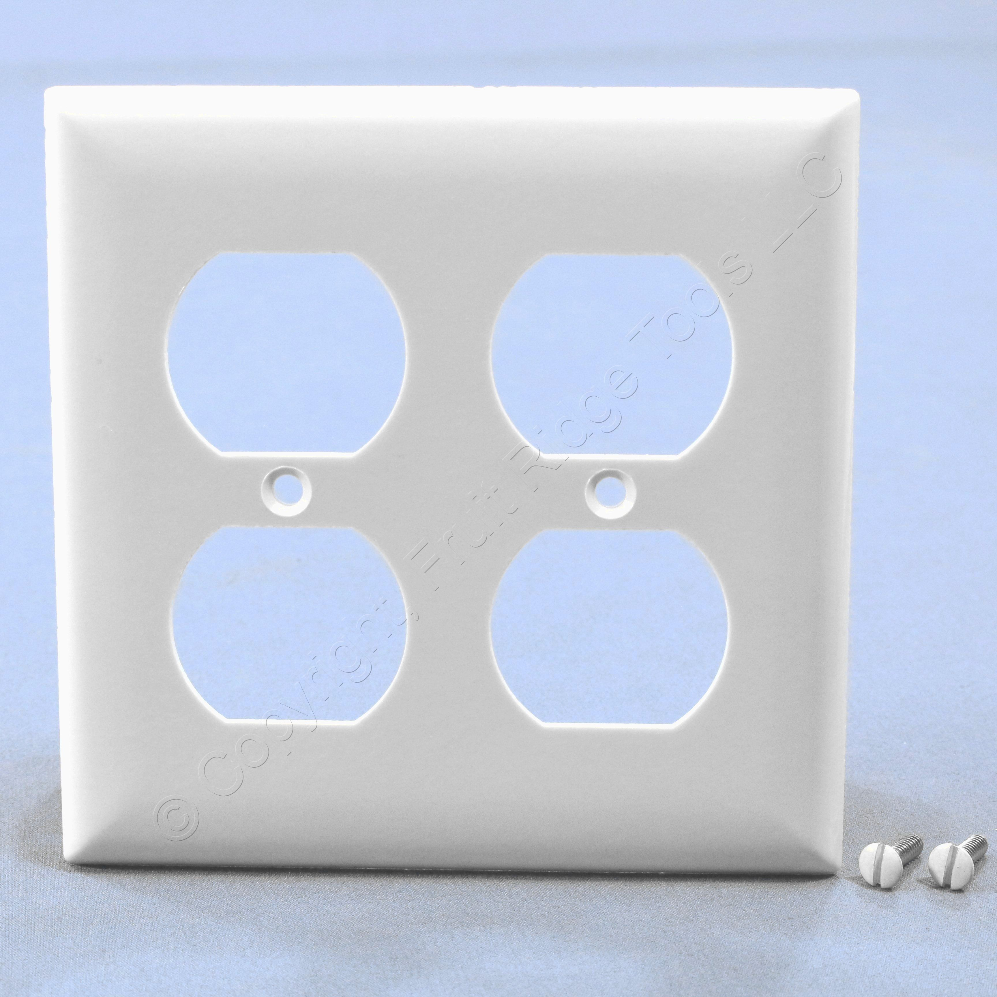 Pass & Seymour White Standard 2g Outlet Cover Duplex Receptacle ...