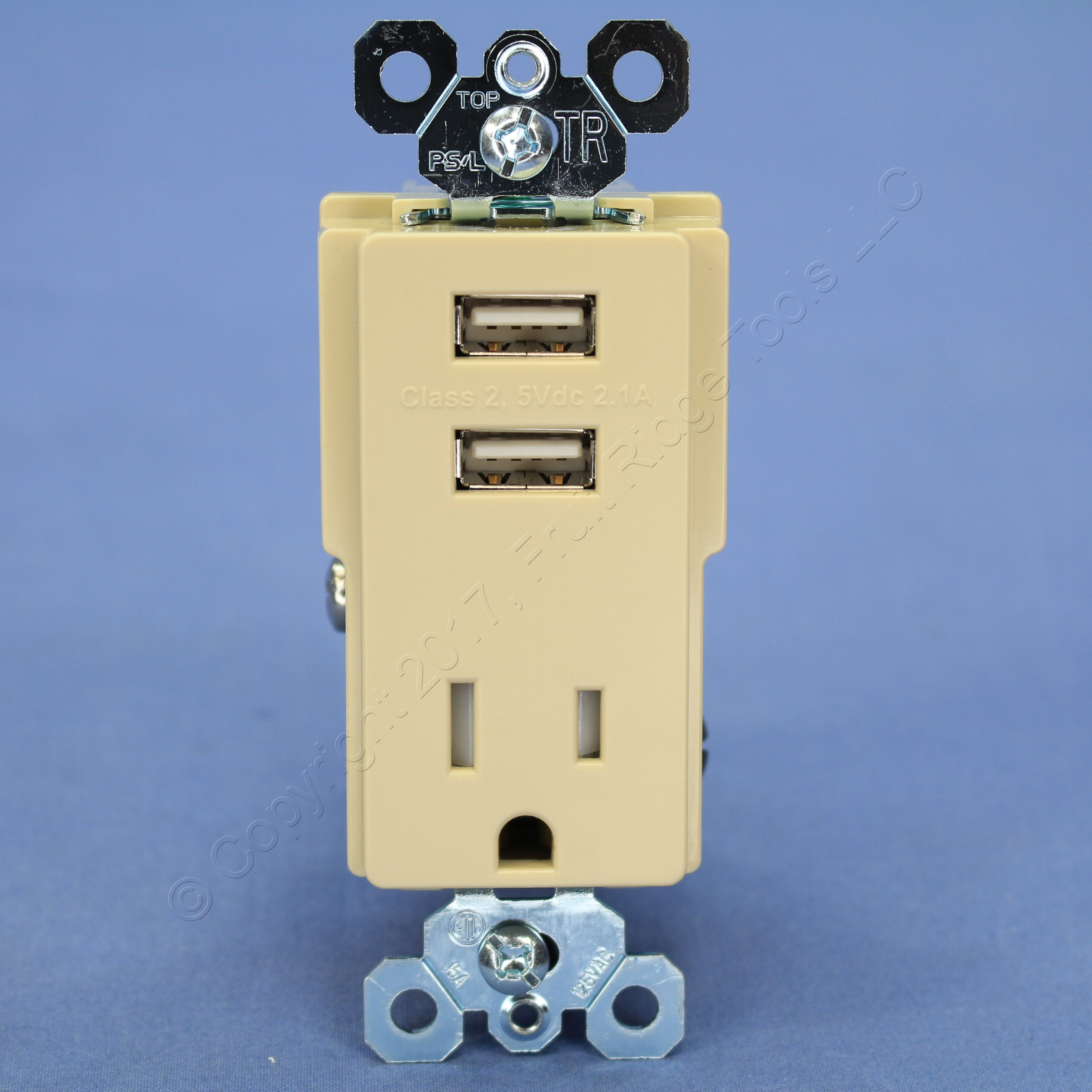 Ivory Electrical Outlets Light Switches 15a Gfi Outlet Ps Tamper Resistant 5 15r 125v Receptacle 21a Usb Charger