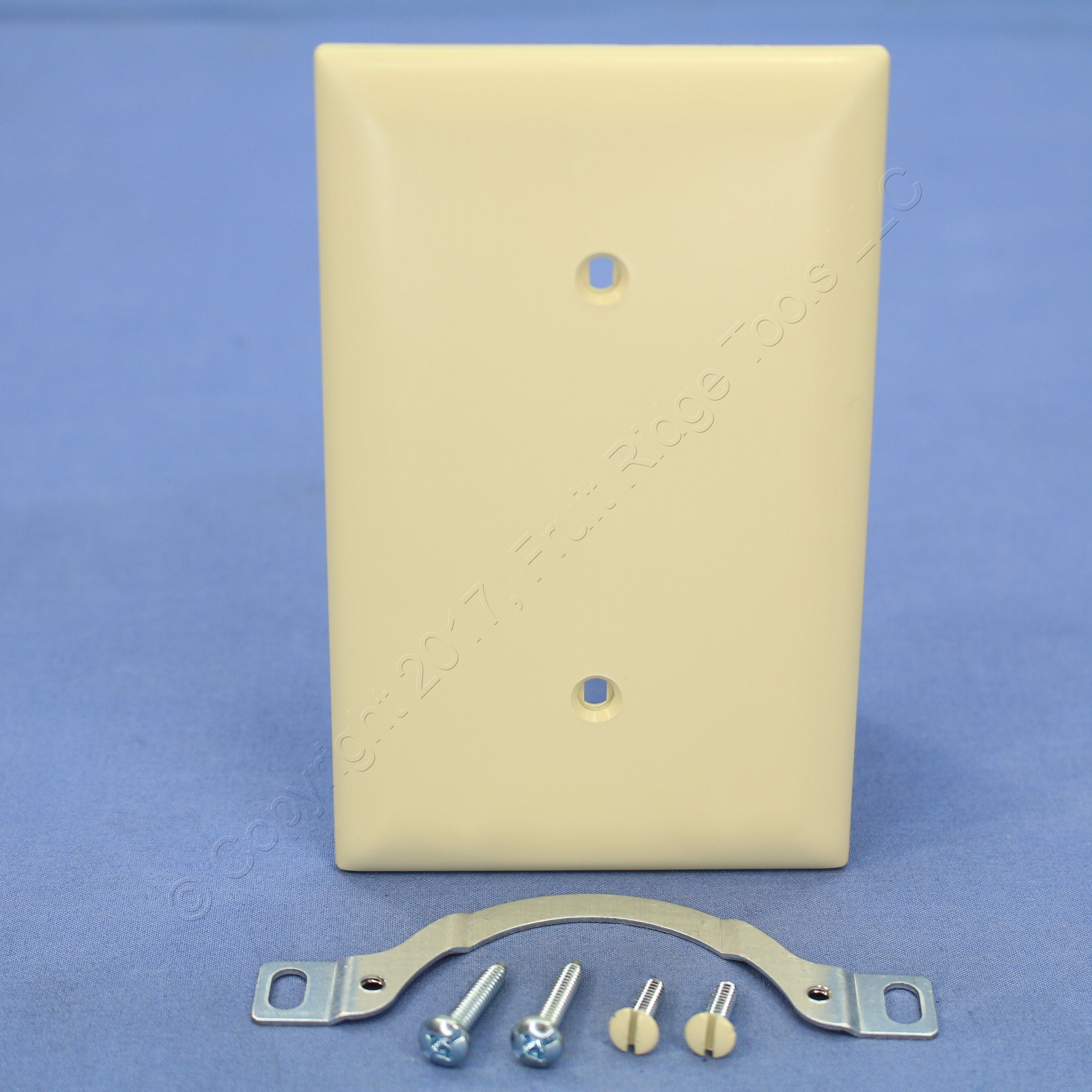 New Cooper Brown Standard 2-Gang UNBREAKABLE Switch Cover Nylon Wallplate 5139B