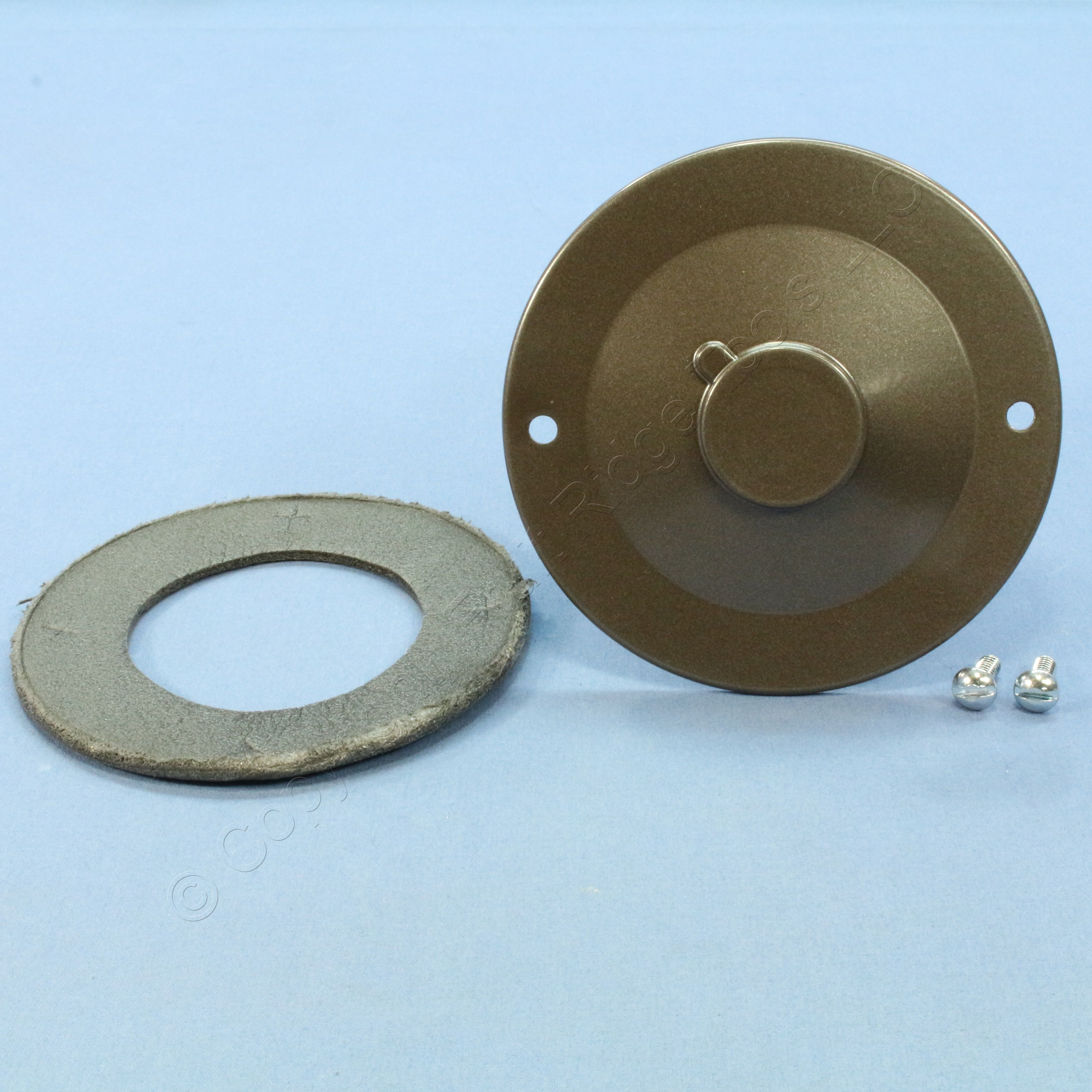 """1 Pass and Seymour weatherproof 4/"""" round outdoor cluster cover bronze WPRB1-BR"""