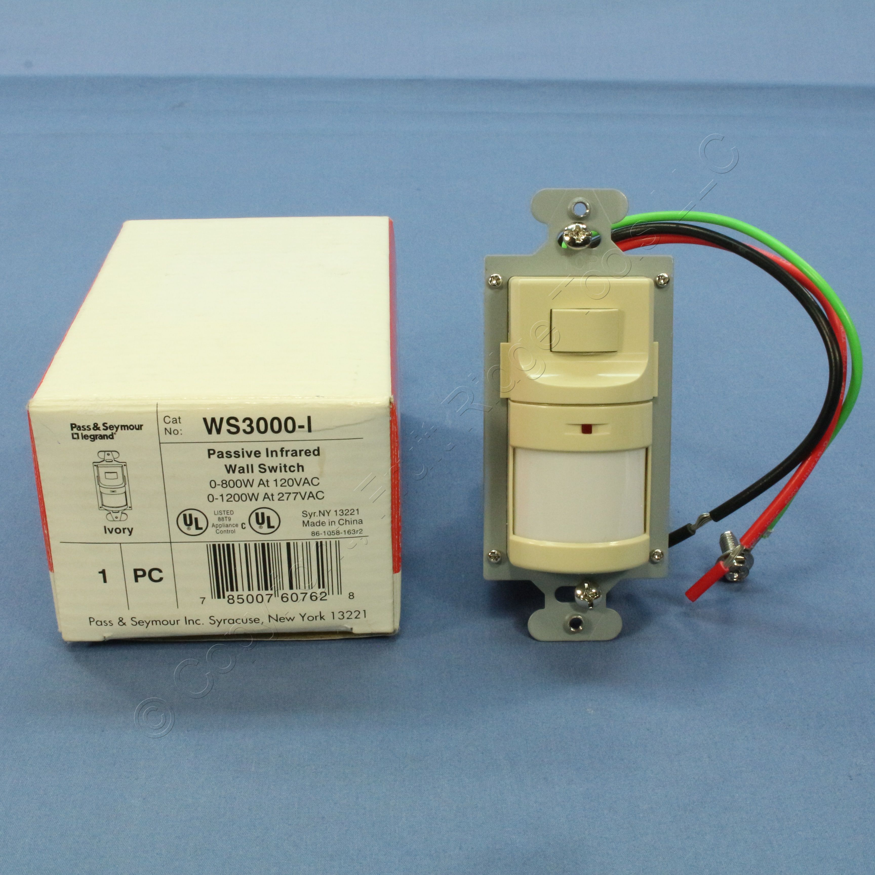 Buy Pass & Seymour Ivory PIR Passive Infrared Wall Switch Occupancy ...