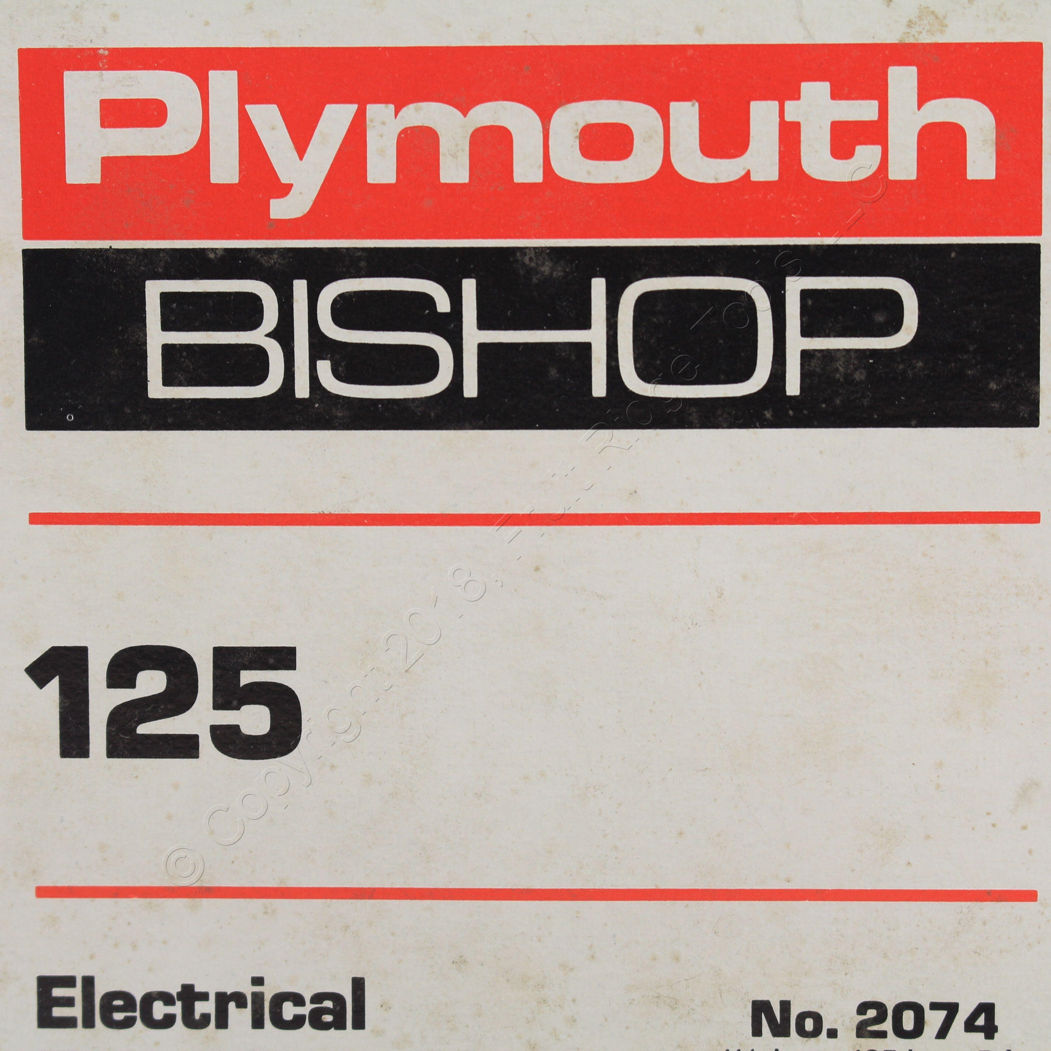 "Plymouth Bishop 125 No 2074 Electrical Filler Tape 1 1//2/"" x ..125/"" x 5/'free ship"