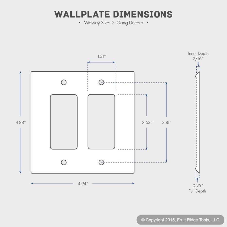 2 Leviton White 2g Decora Unbreakable Midway Wallplate Gfi